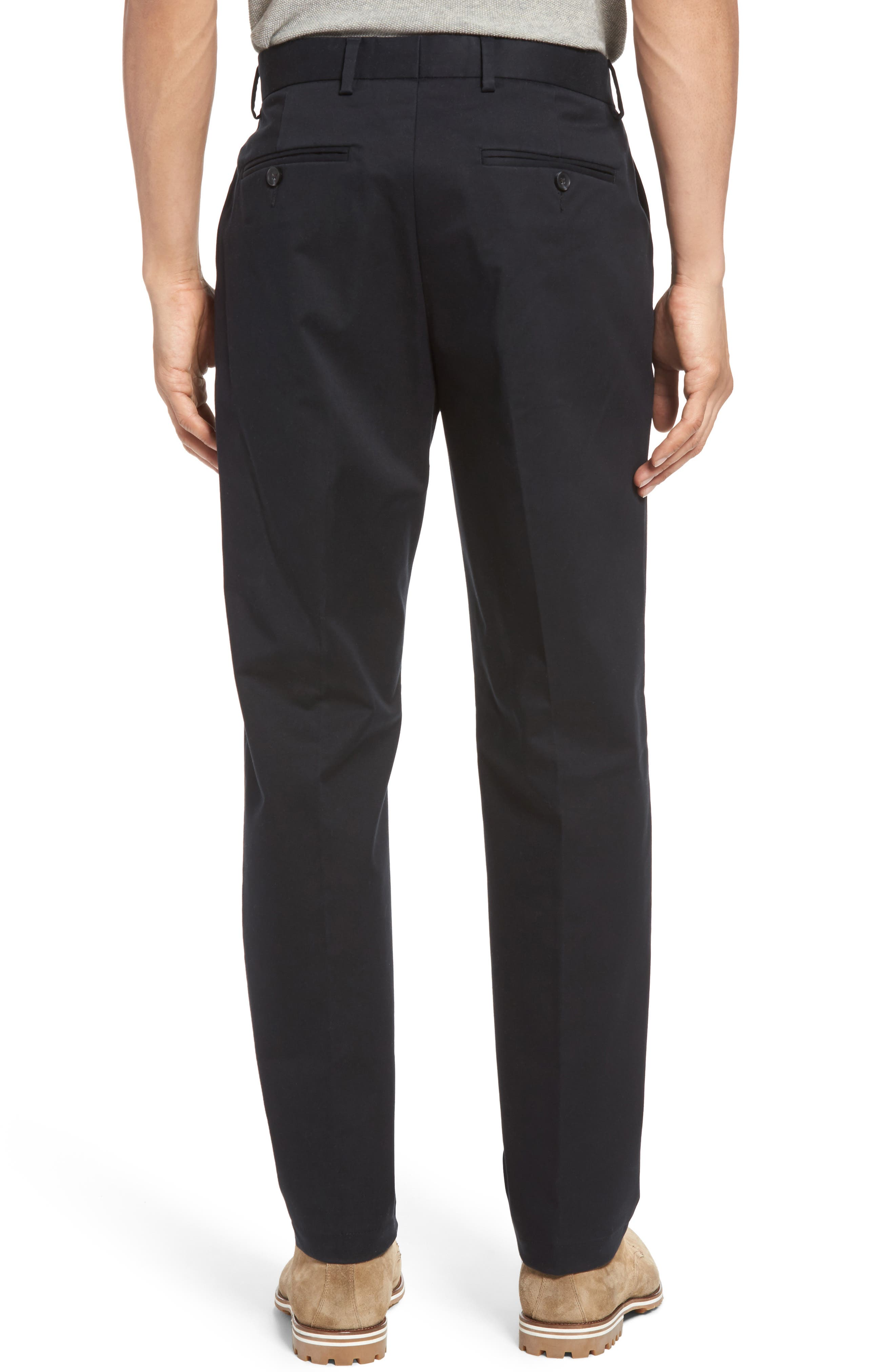 Nordstrom Men's Shop Georgetown Chinos,                             Alternate thumbnail 2, color,                             001