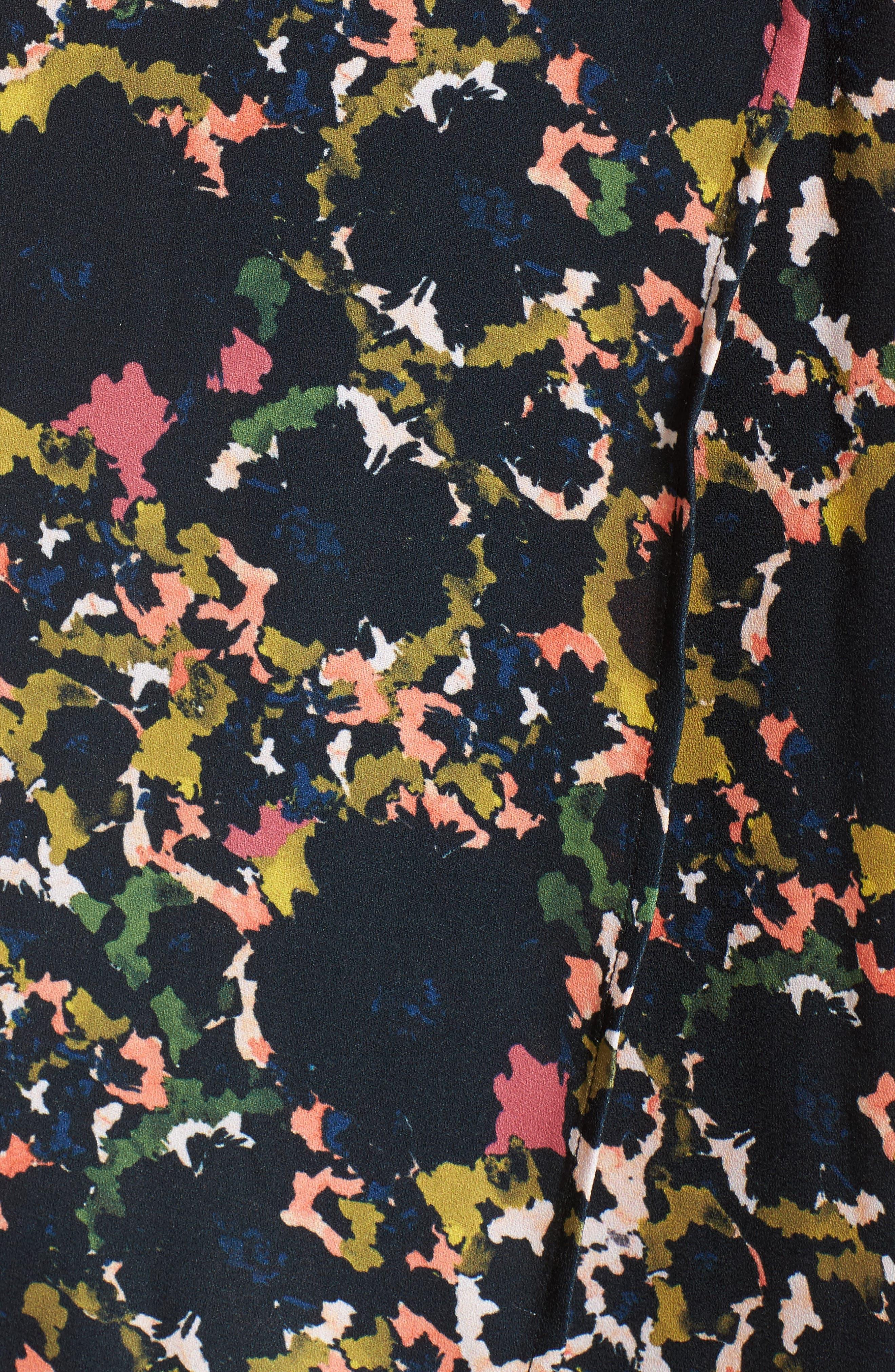 Off the Shoulder Crepe Maxi Dress,                             Alternate thumbnail 7, color,
