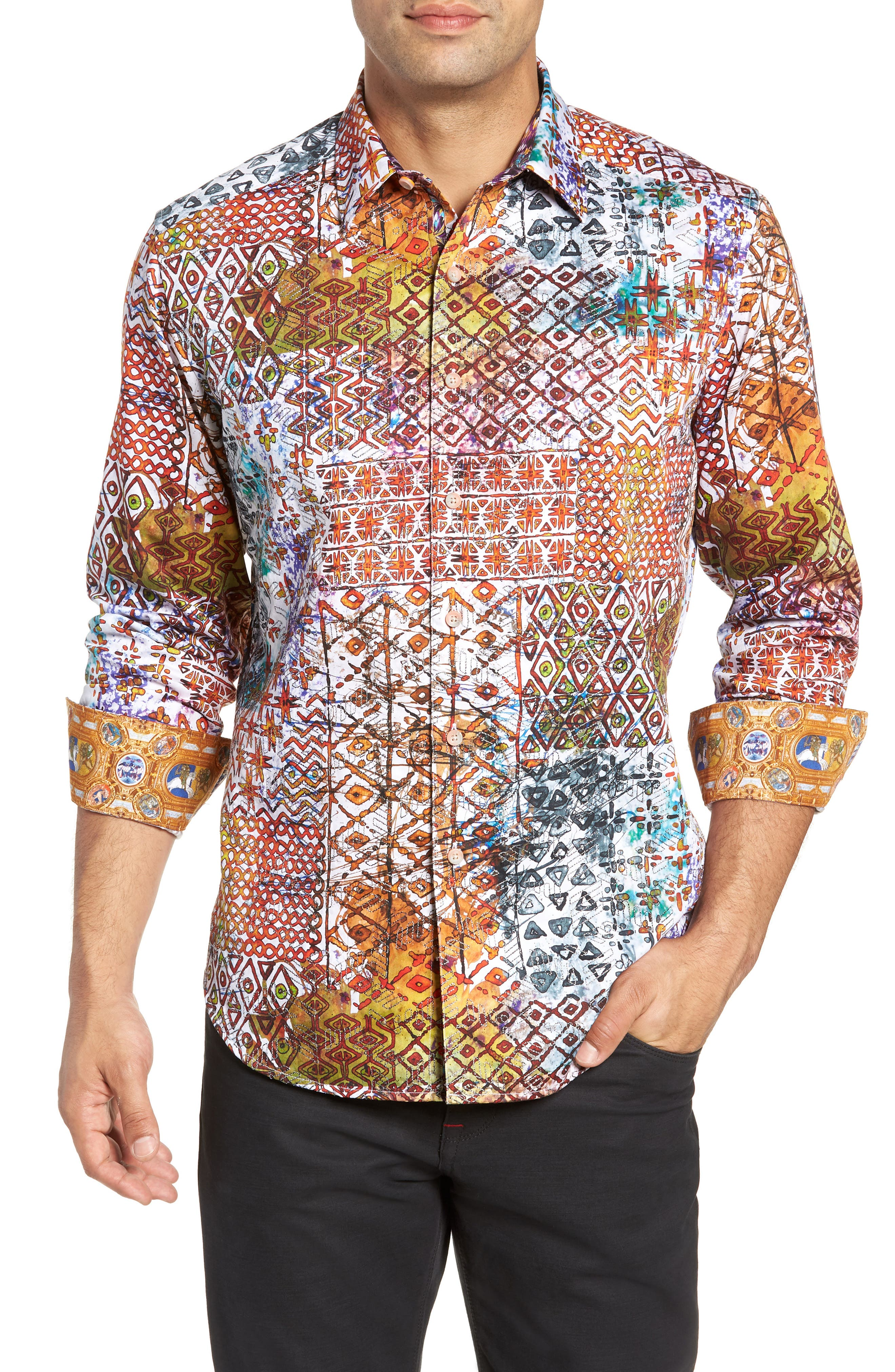 Rhone River Classic Fit Sport Shirt,                             Main thumbnail 1, color,                             MULTI