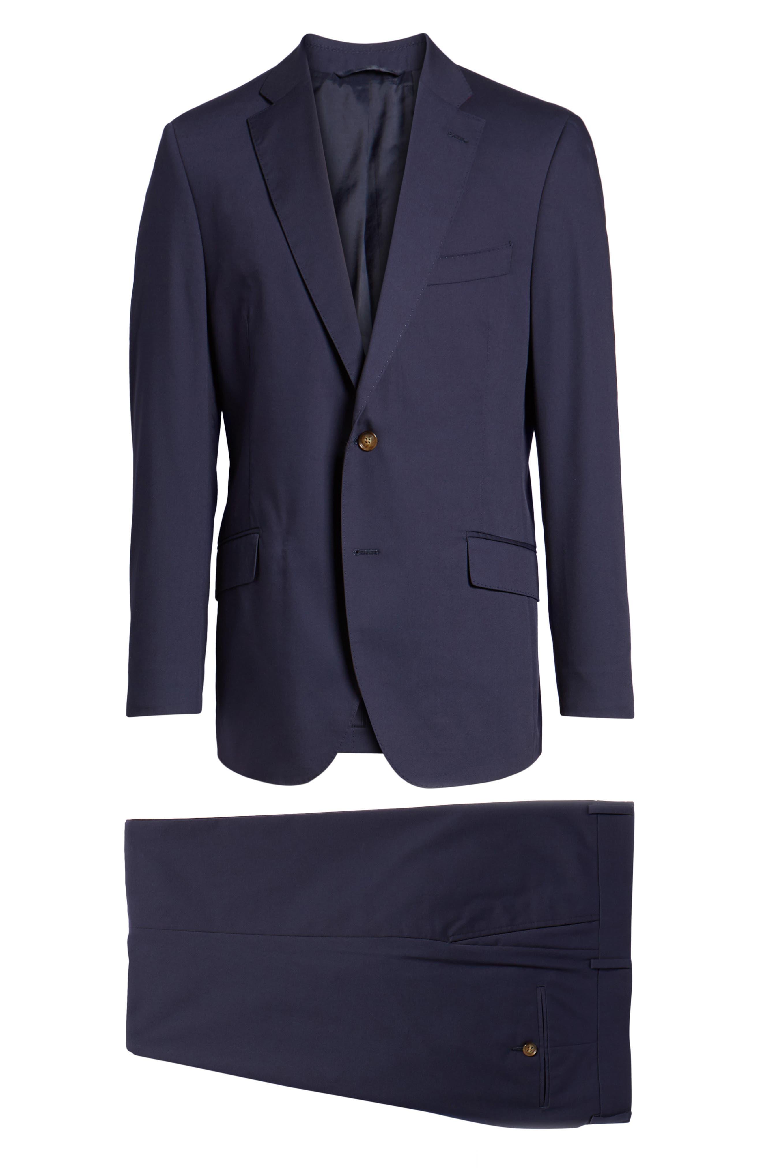 Irons AIM Classic Fit Solid Cotton Blend Suit,                             Alternate thumbnail 8, color,                             410