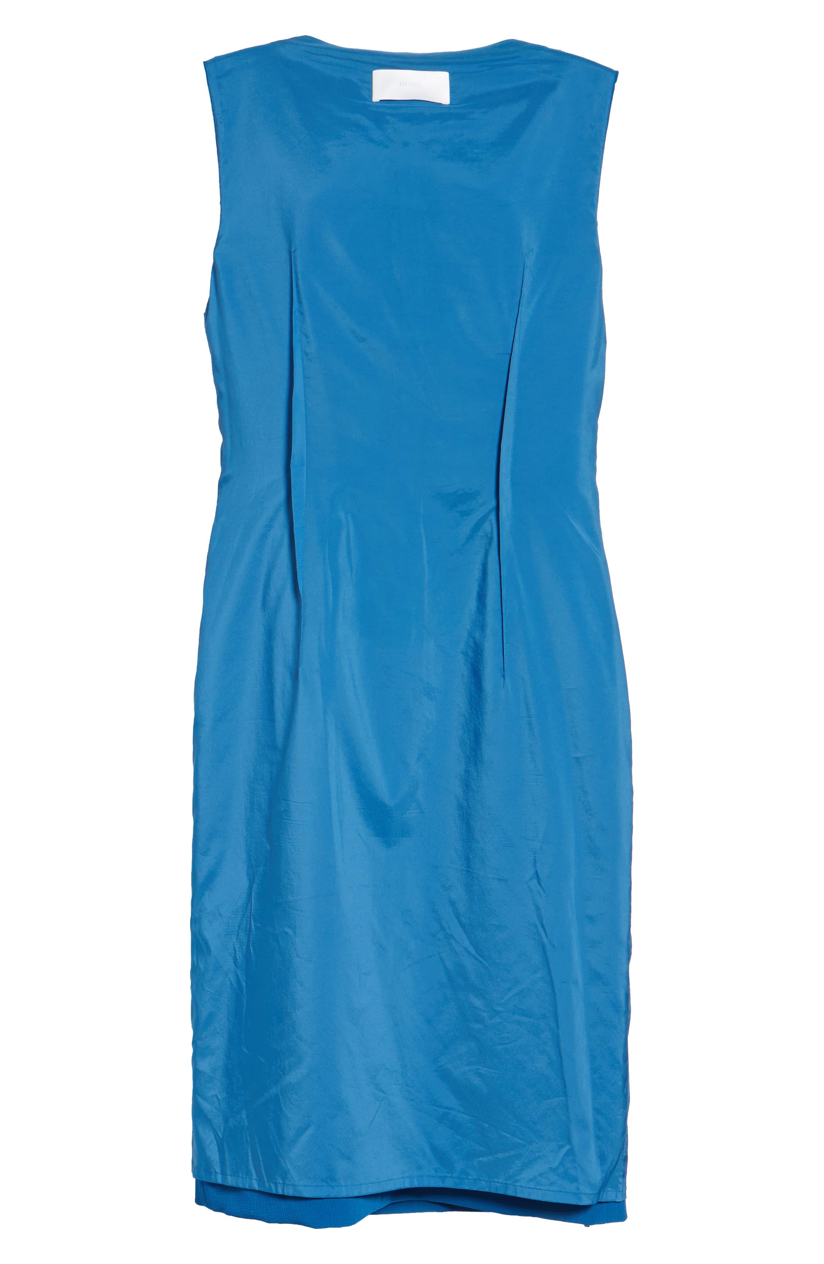 Danafea Zip Detail Sheath Dress,                             Alternate thumbnail 6, color,                             424