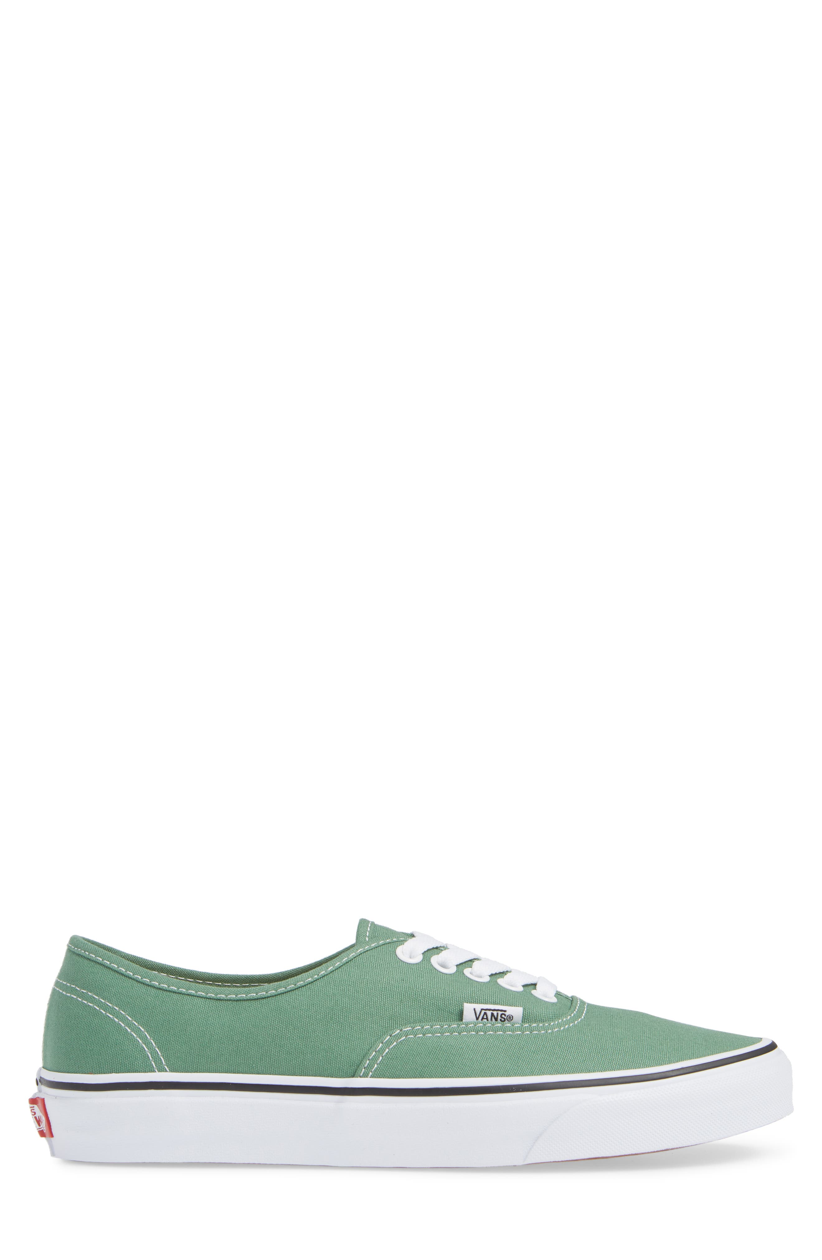 VANS,                             'Authentic' Sneaker,                             Alternate thumbnail 3, color,                             DEEP GRASS GREEN/ TRUE WHITE