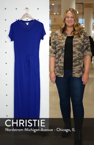 Front Gathered Maxi Dress, sales video thumbnail