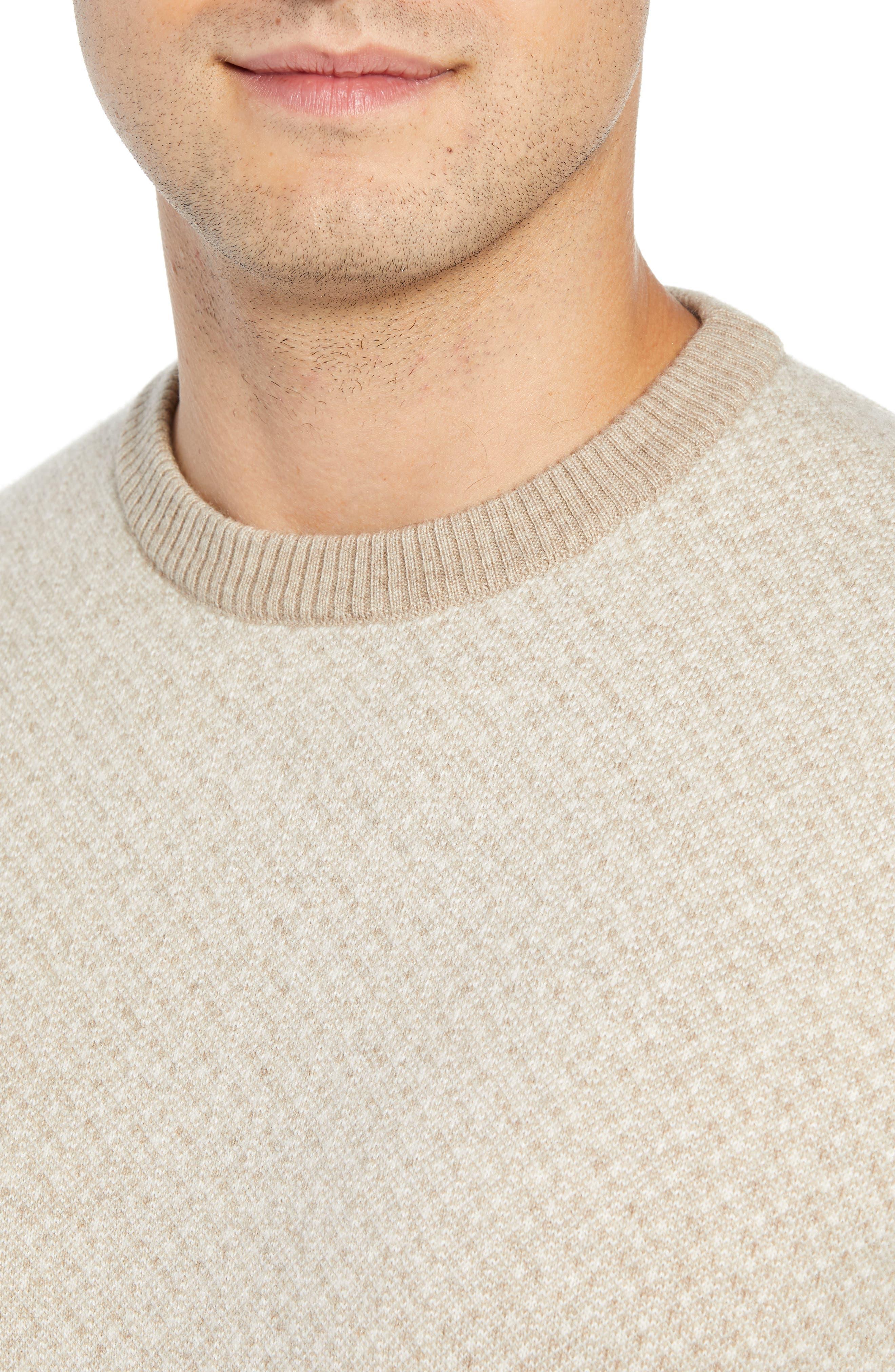 Crewneck Cashmere Sweater,                             Alternate thumbnail 4, color,                             BEIGE