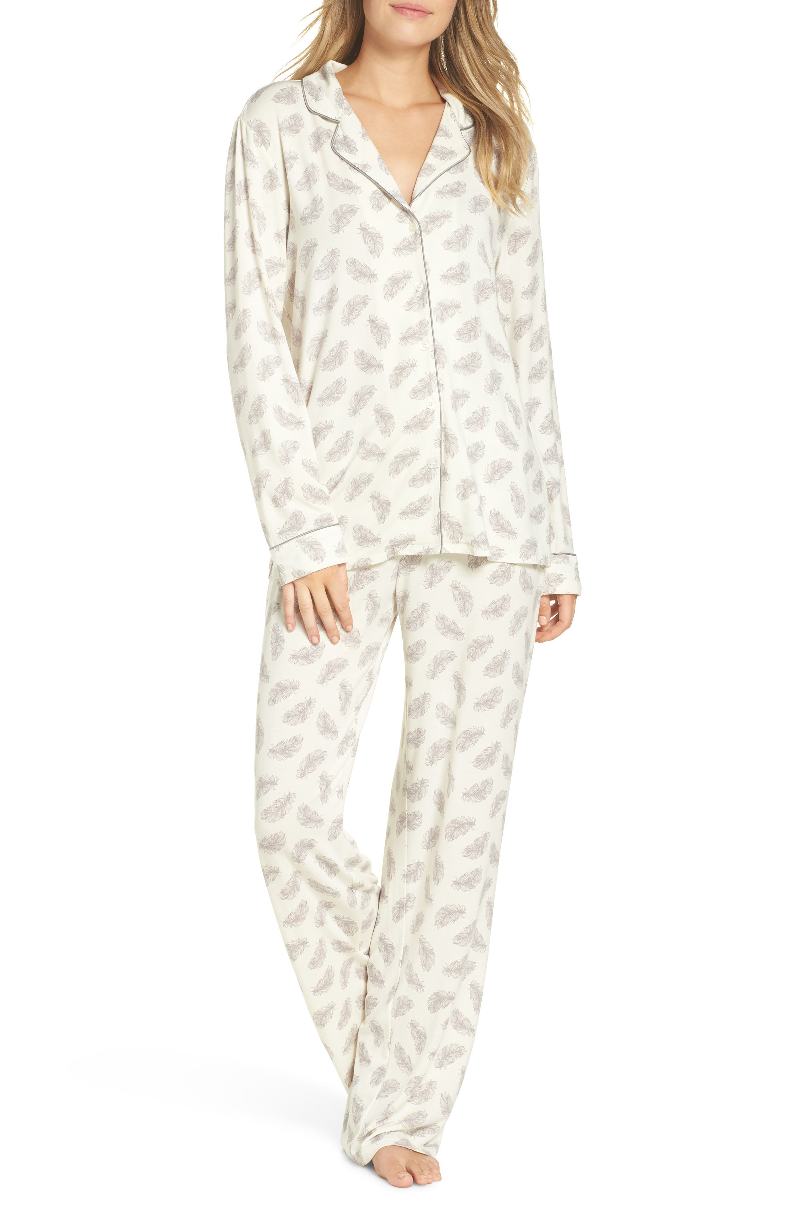 Nordstrom Lingerie Moonlight Pajamas, Ivory