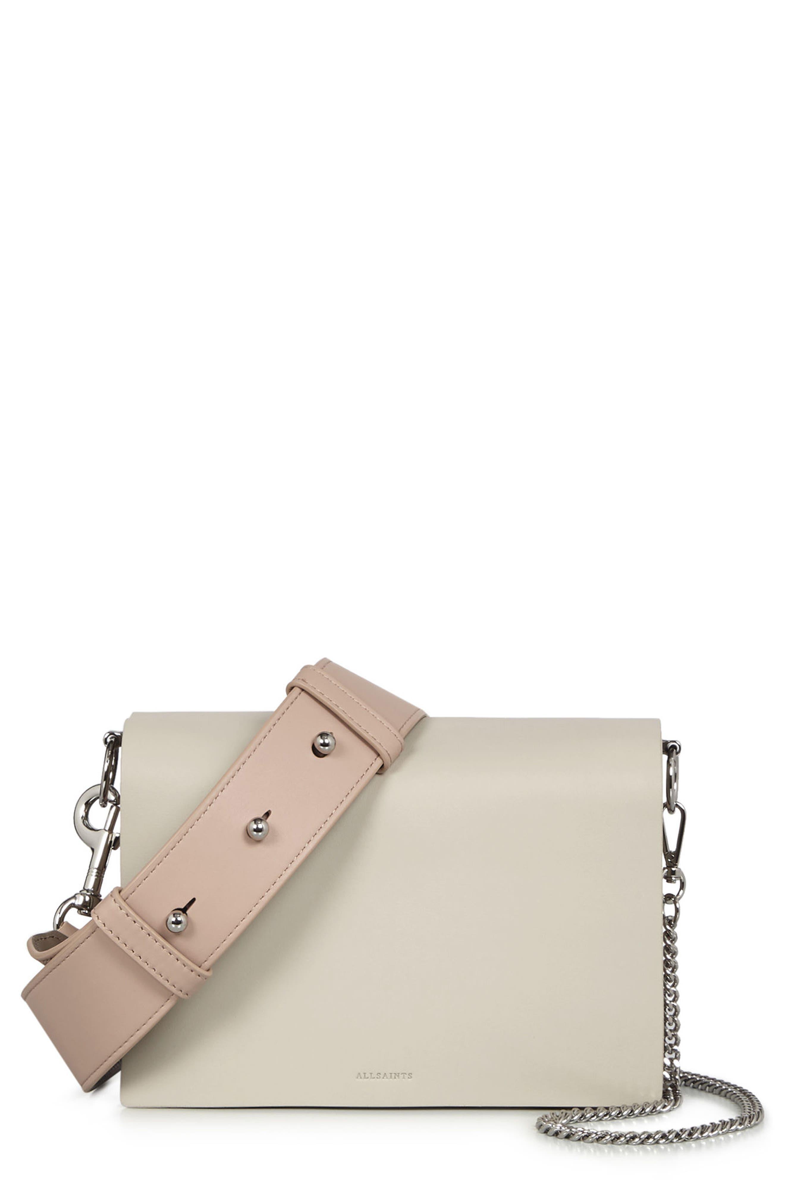 Zep Colorblock Leather Shoulder Bag,                         Main,                         color, 115
