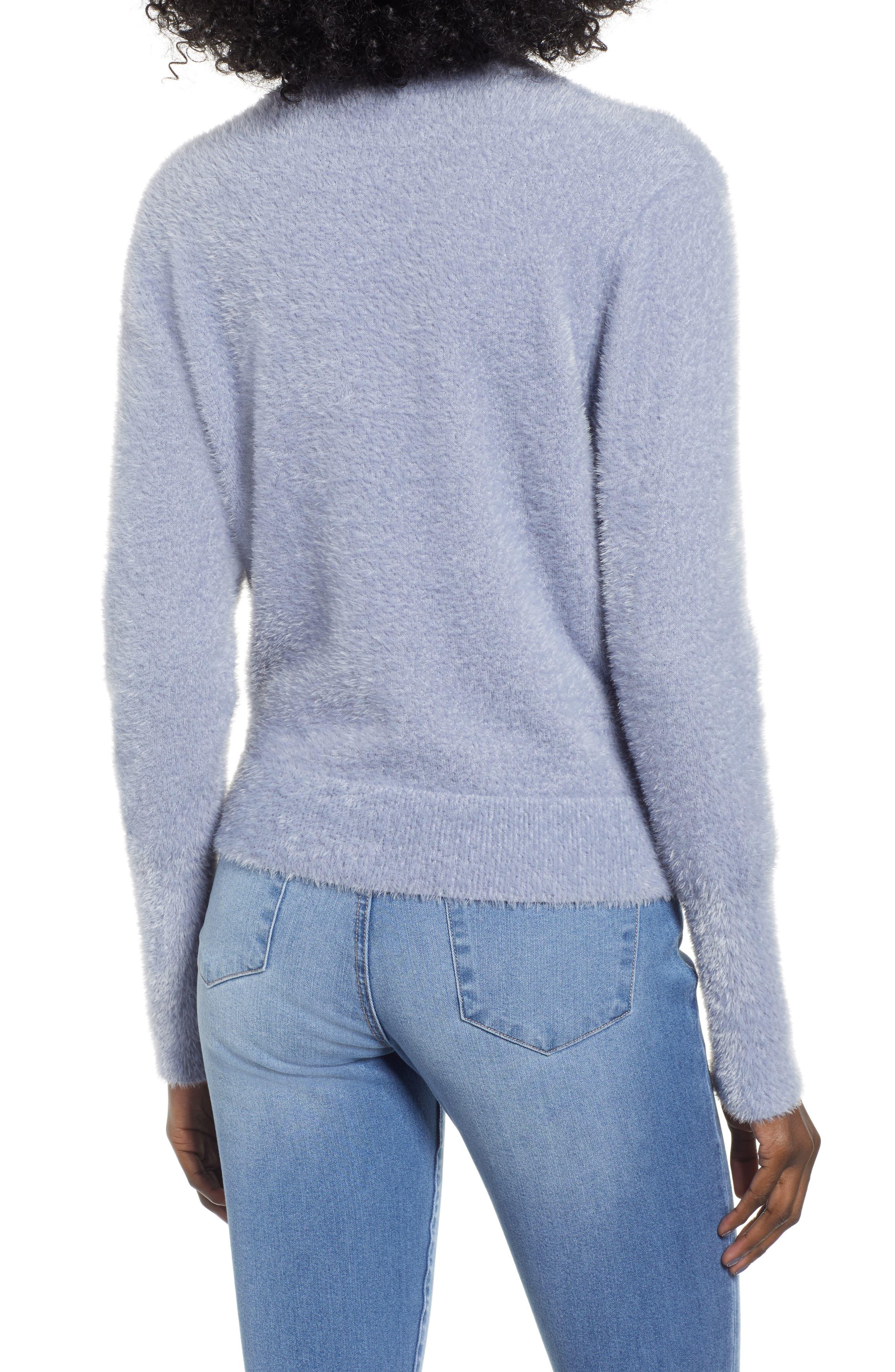 Eyelash Knit Pullover,                             Alternate thumbnail 2, color,                             GREY LILAC
