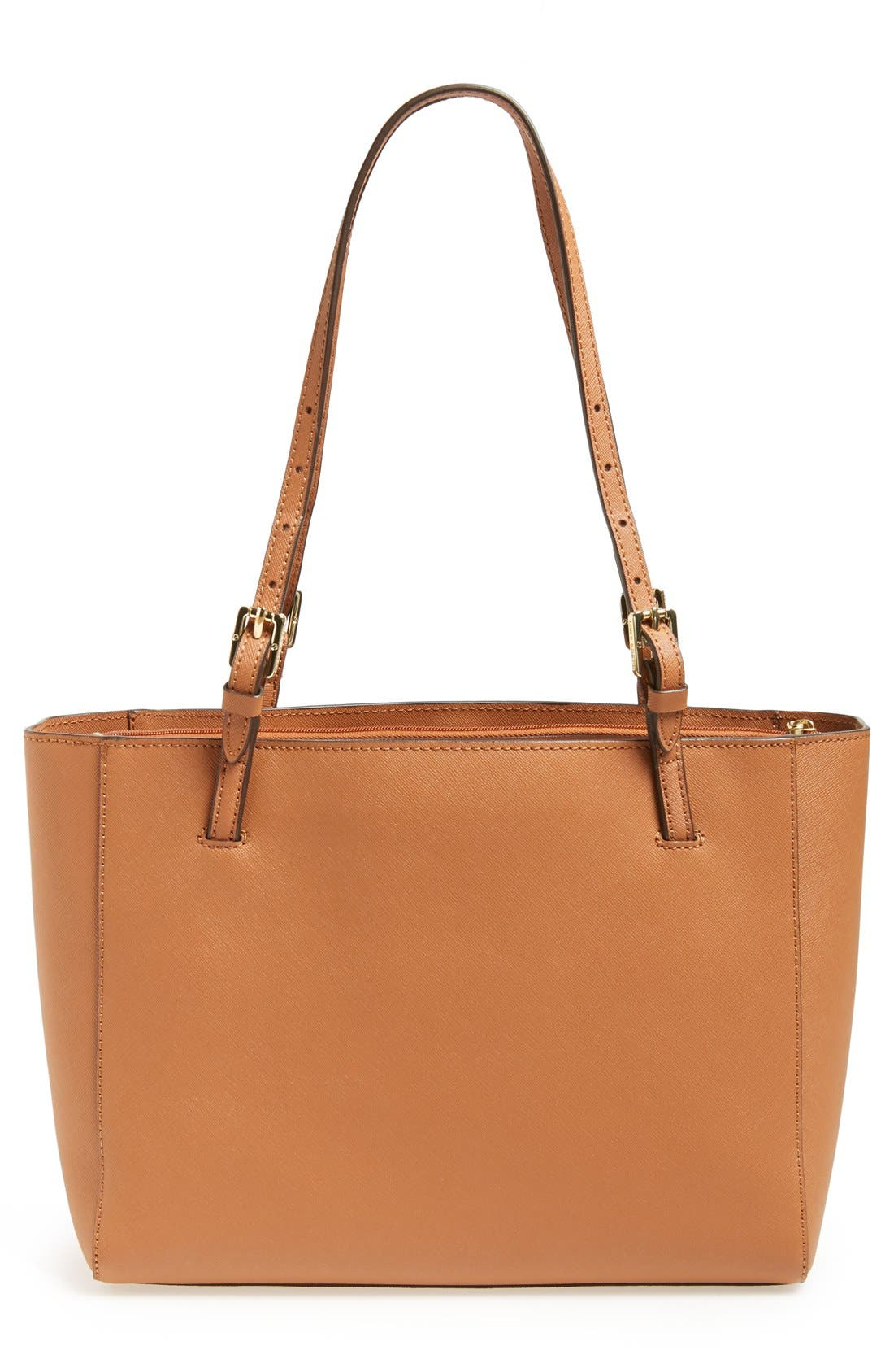 'Small York' Saffiano Leather Buckle Tote,                             Alternate thumbnail 19, color,