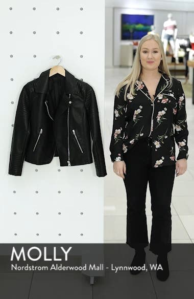 Dolly Leather Biker Jacket, sales video thumbnail