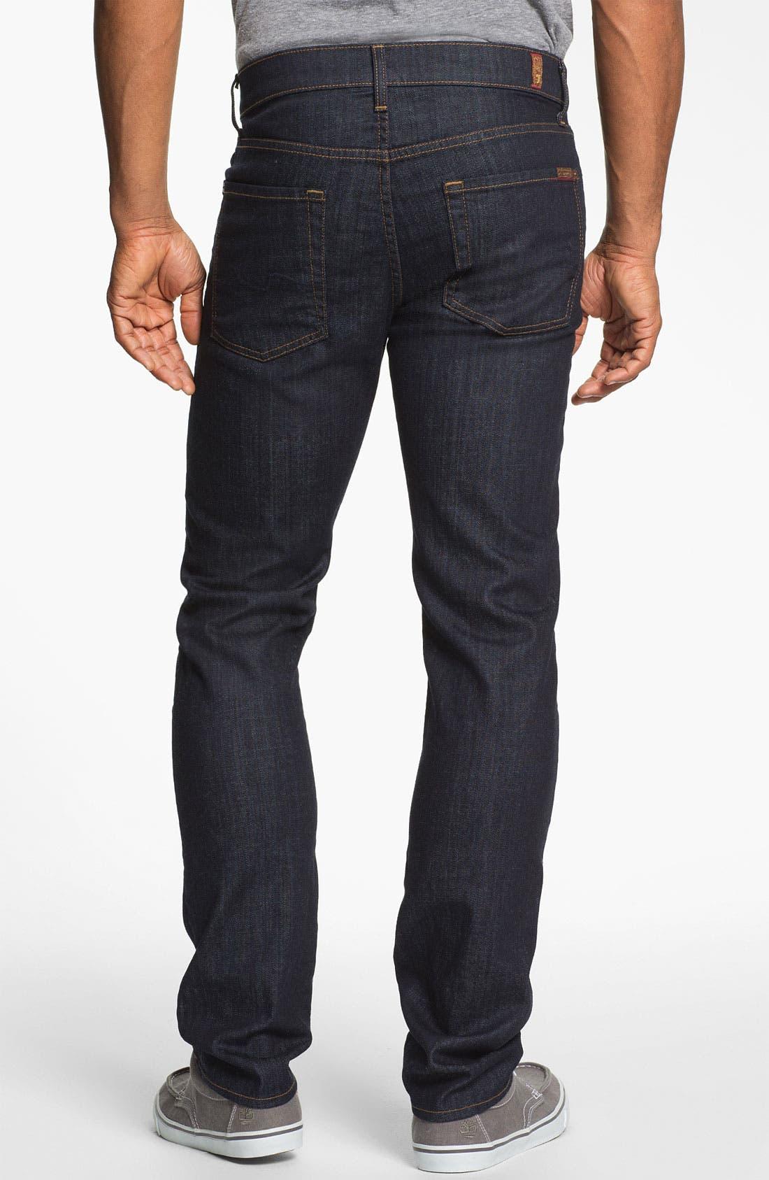 'Slimmy' Slim Fit Jeans,                             Alternate thumbnail 5, color,                             DARK & CLEAN