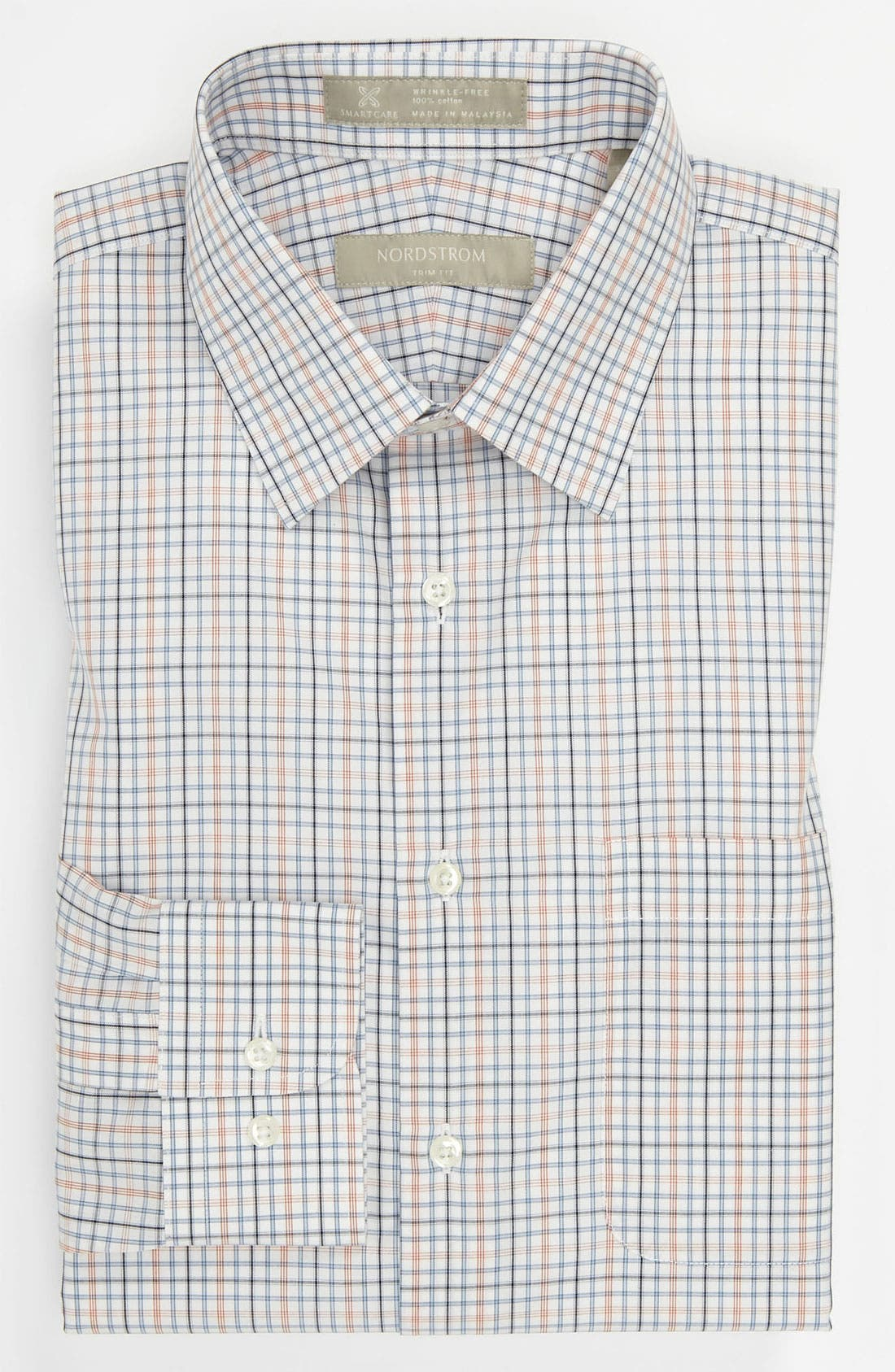 Nordstrom Smartcare<sup>™</sup> Trim Fit Dress Shirt,                             Main thumbnail 1, color,                             800