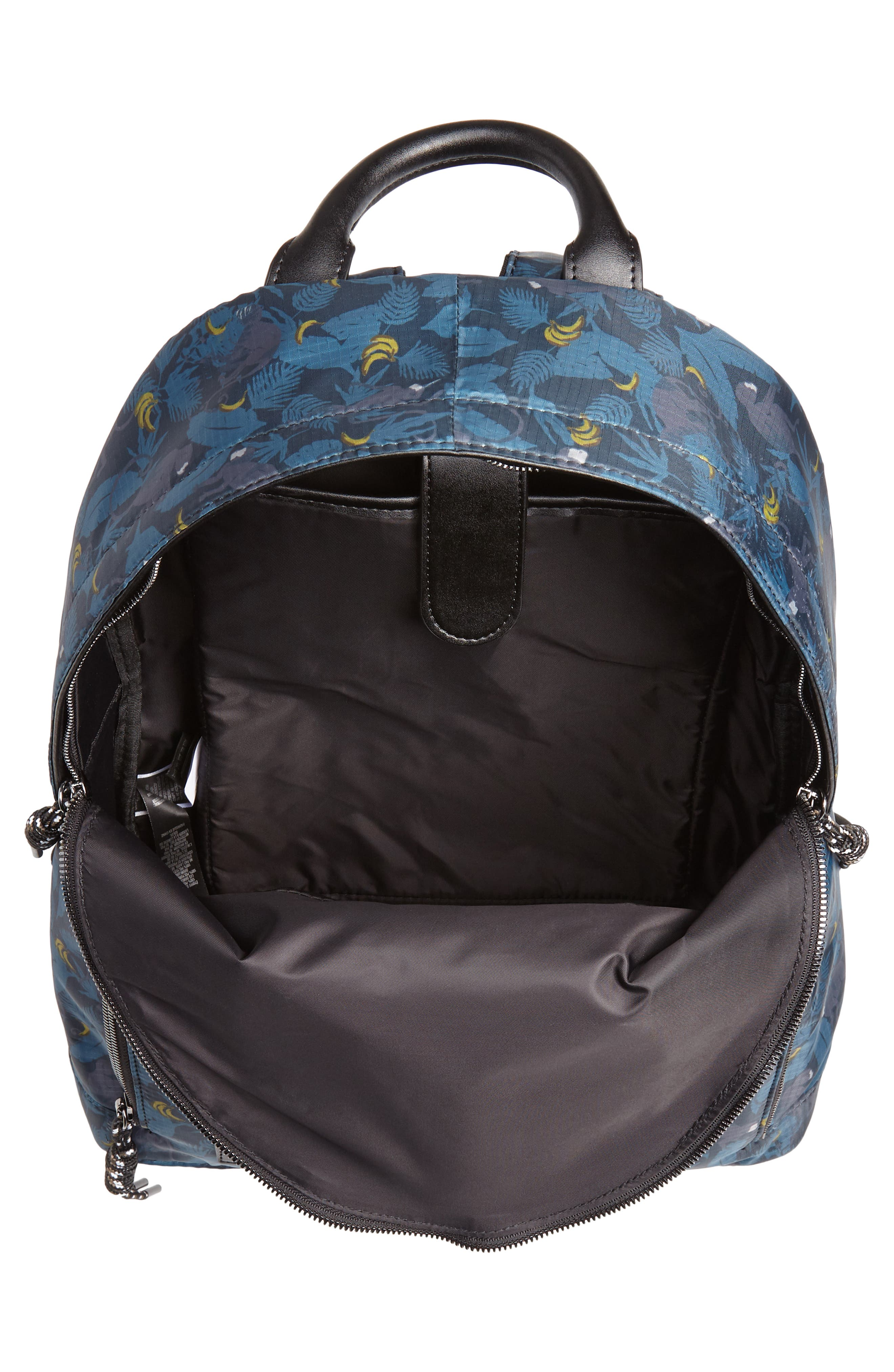 Primate Print Backpack,                             Alternate thumbnail 4, color,                             NAVY