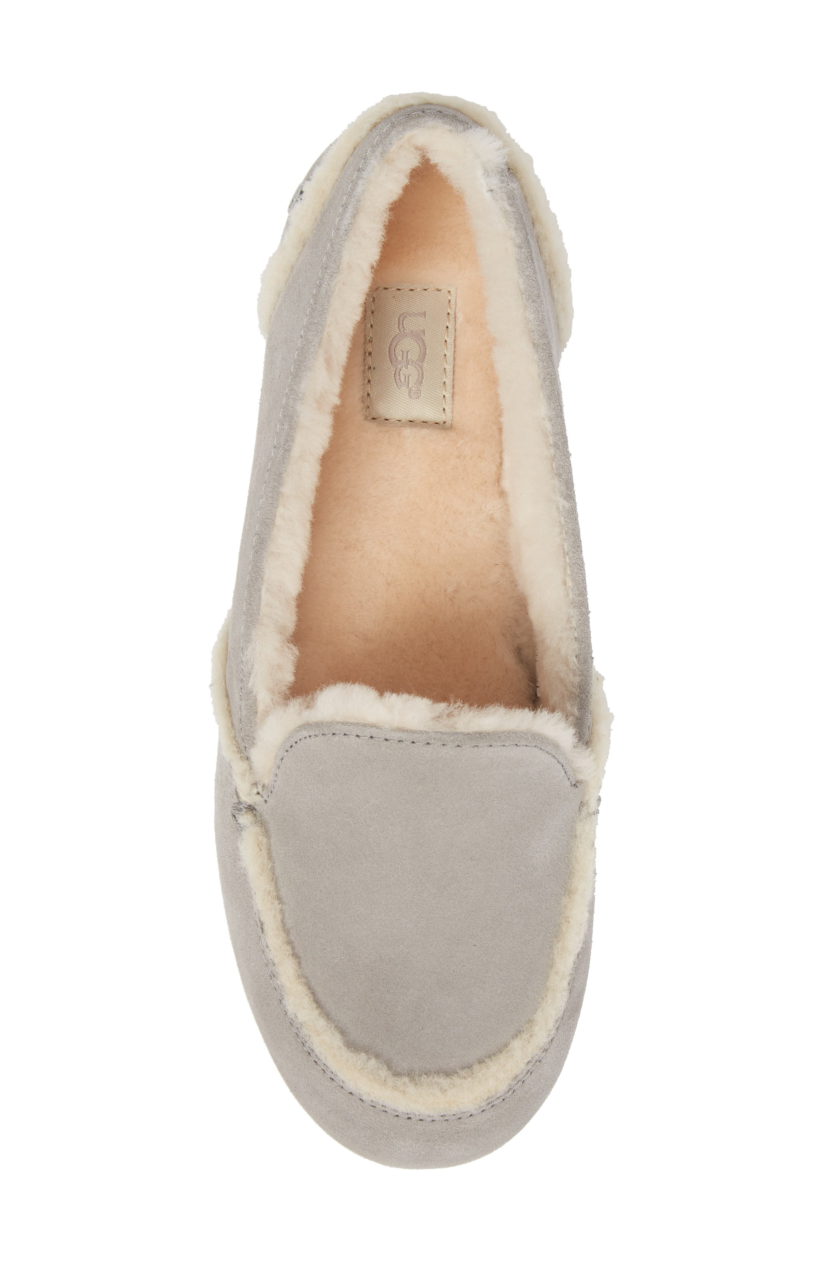 Hailey Slipper,                             Alternate thumbnail 5, color,                             GREY SUEDE