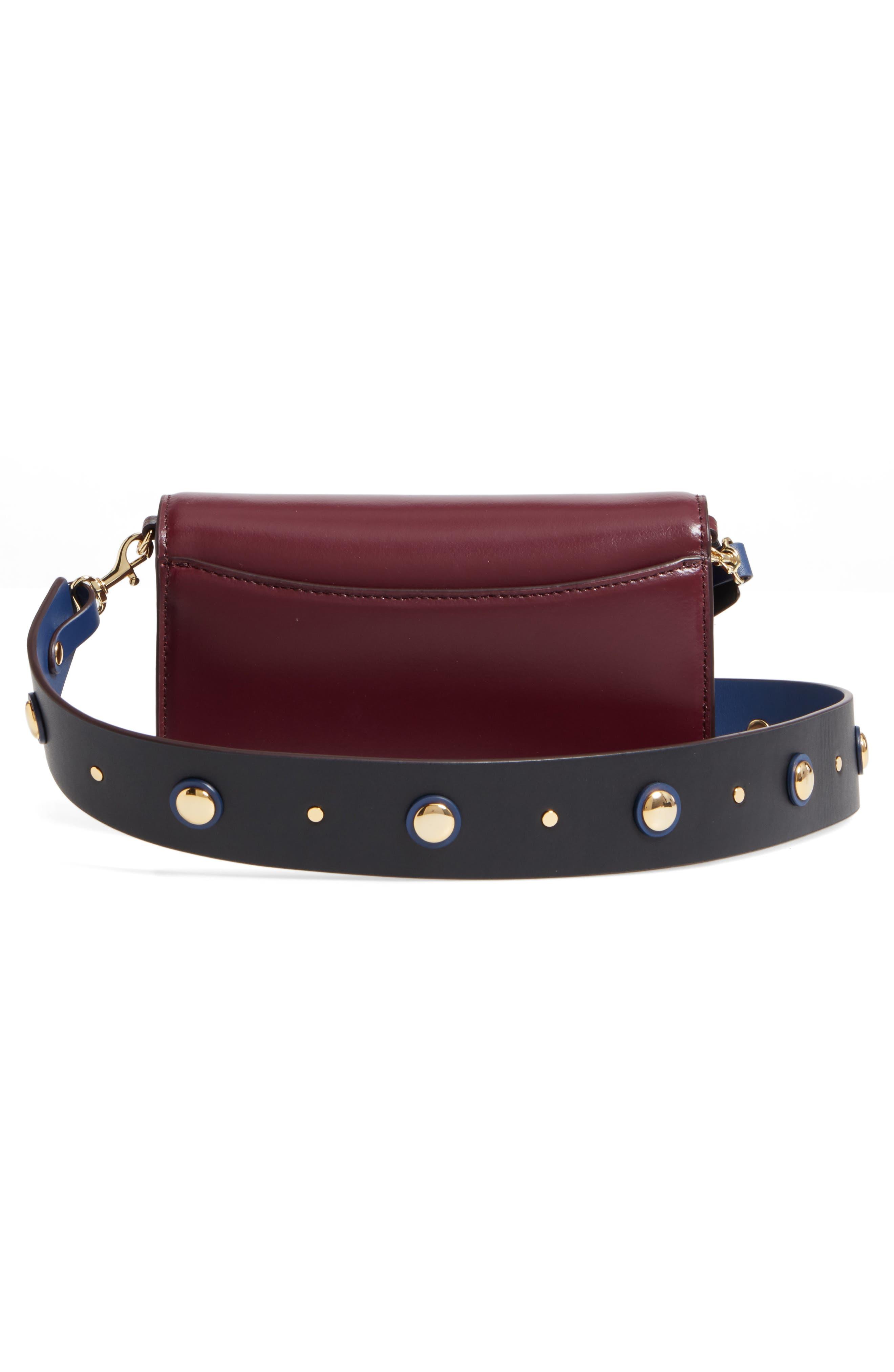 Soirée Leather Convertible Crossbody Bag,                             Alternate thumbnail 12, color,