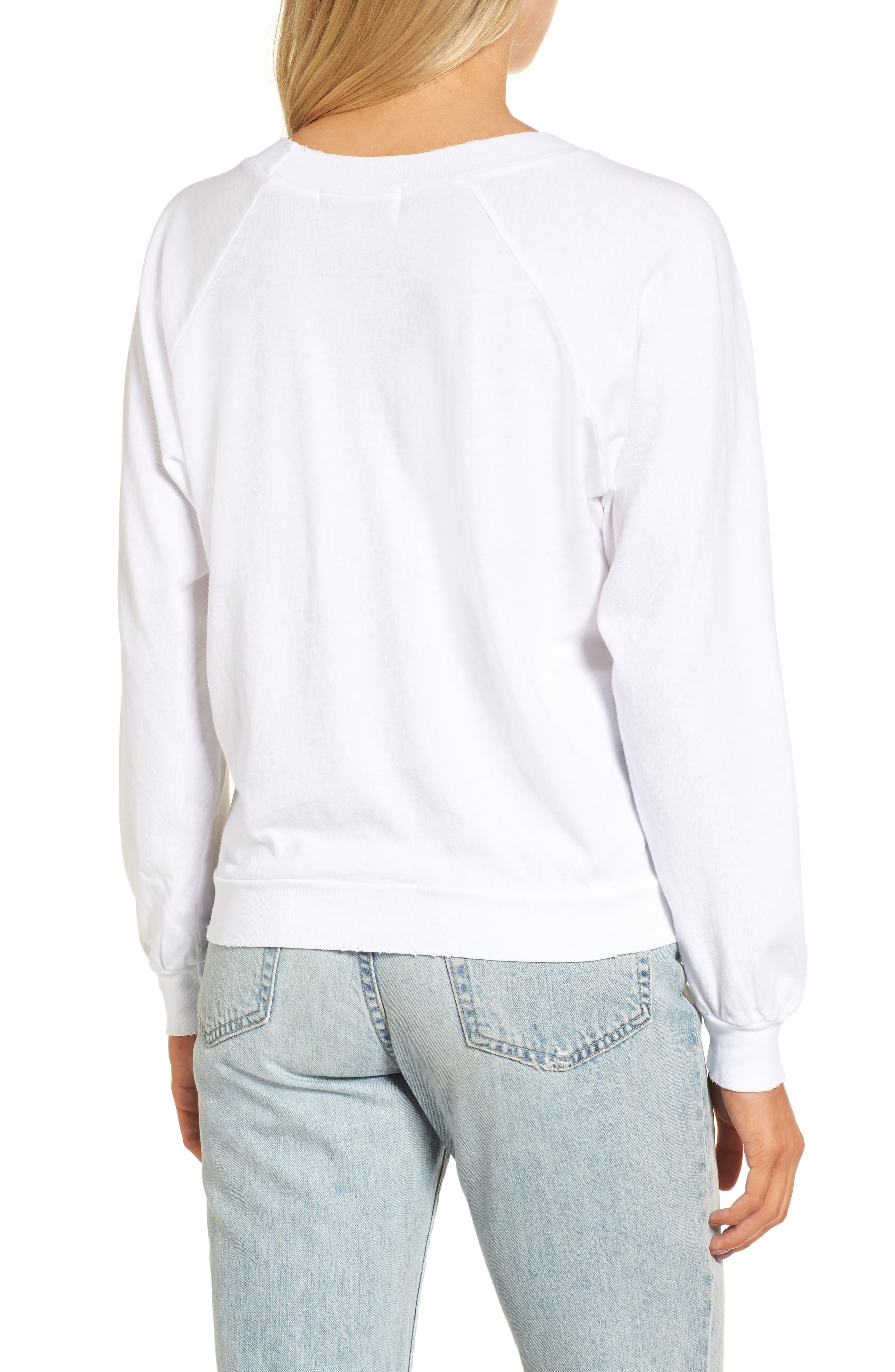 Broad City Cotton Graphic Sweatshirt,                             Alternate thumbnail 2, color,                             100