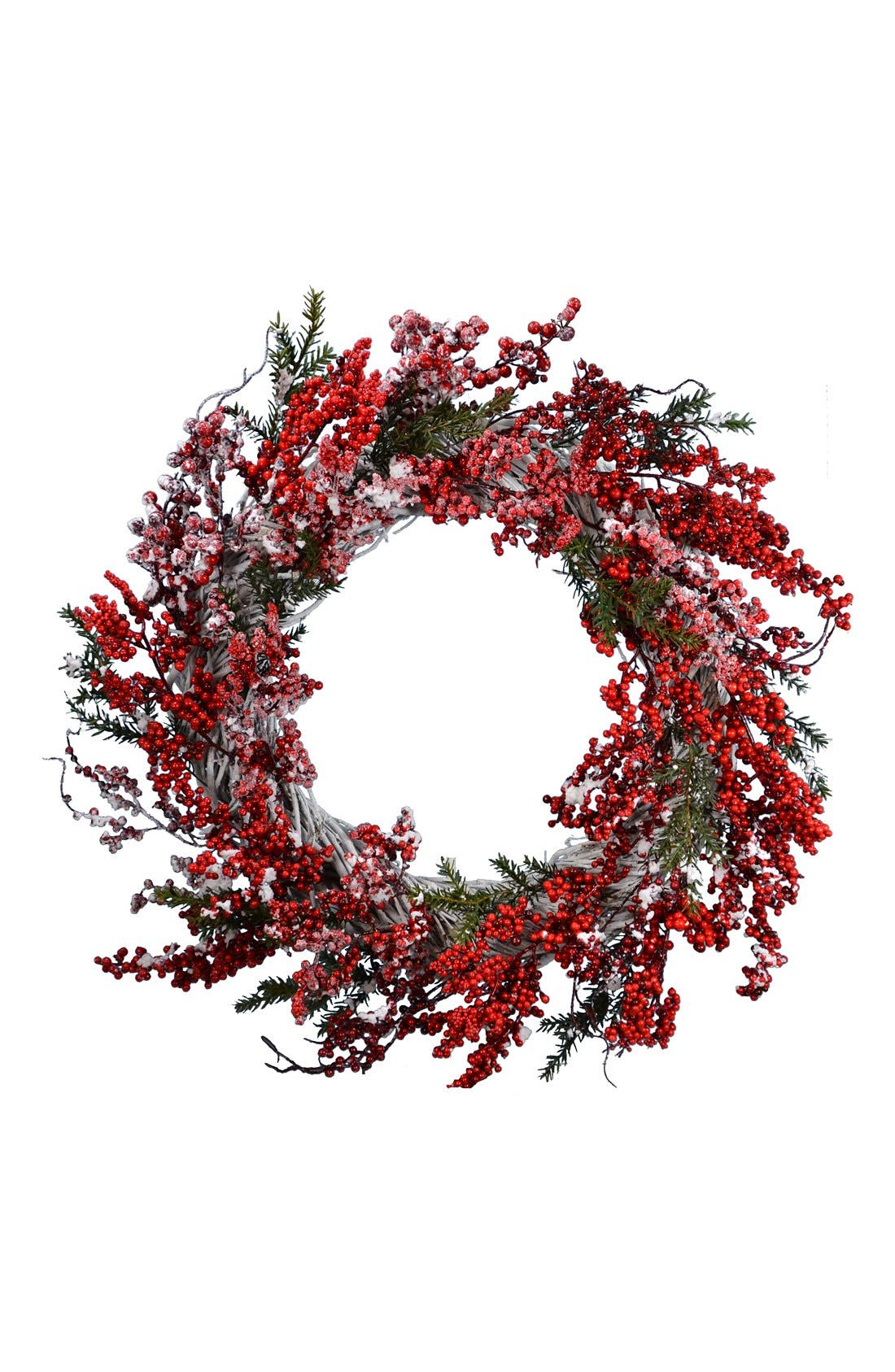 FANTASTIC CRAFT Winter Berry Wreath, Main, color, 600