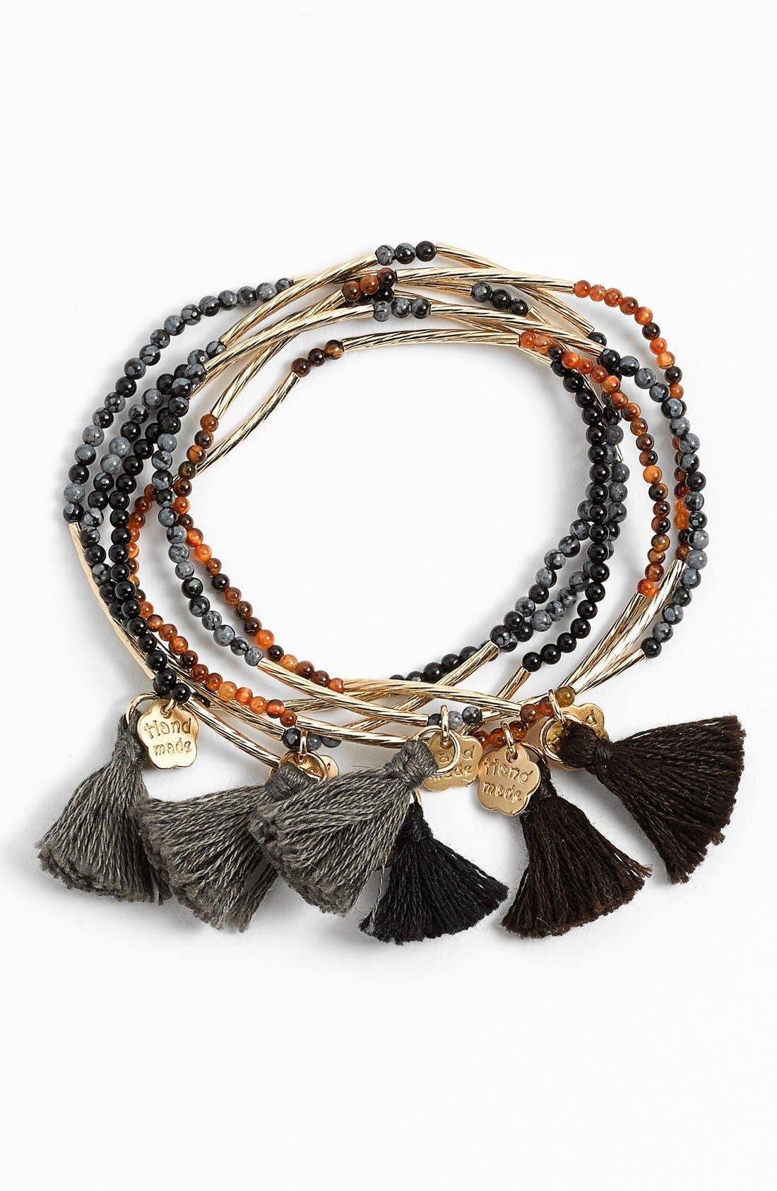 Bead Stretch Bracelet,                         Main,                         color, 020