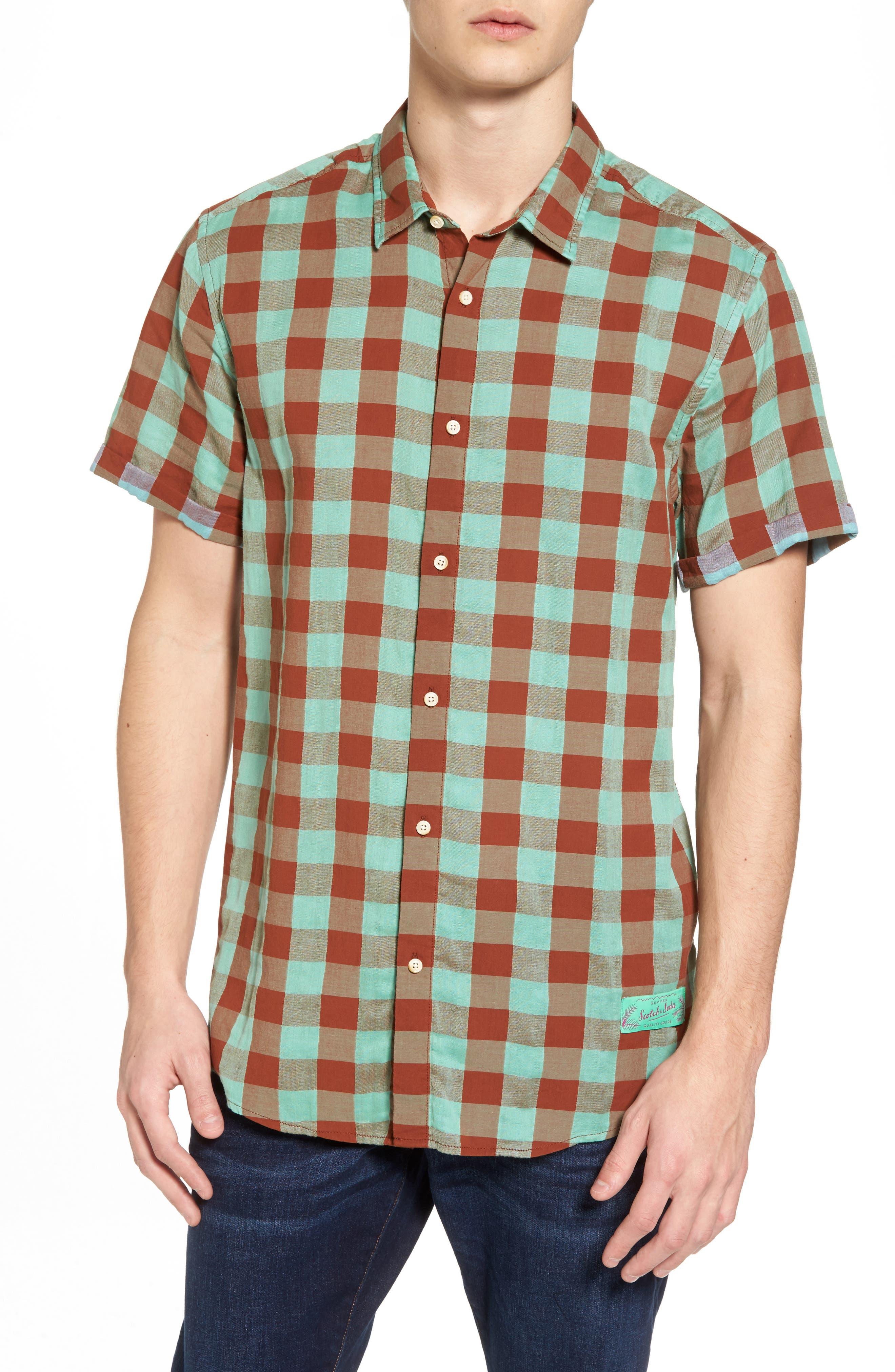 Check Woven Shirt,                             Main thumbnail 1, color,