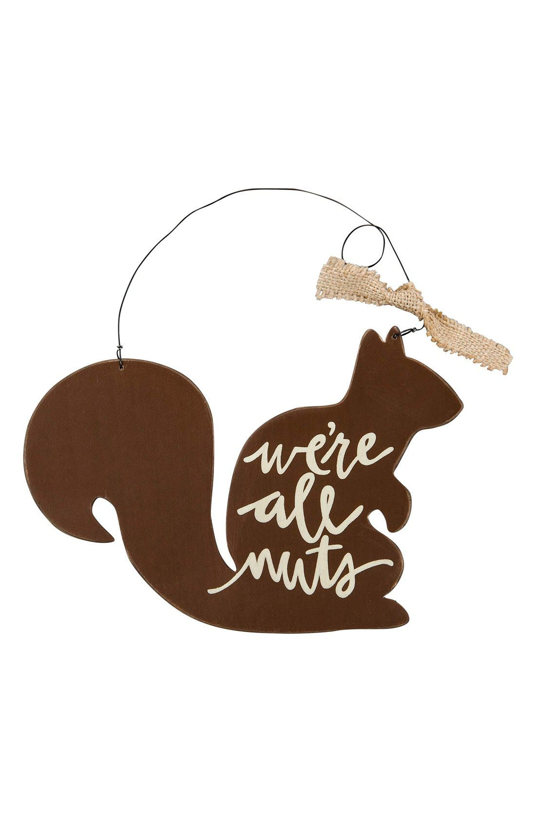 'We're All Nuts' Wood Ornament,                         Main,                         color, 200