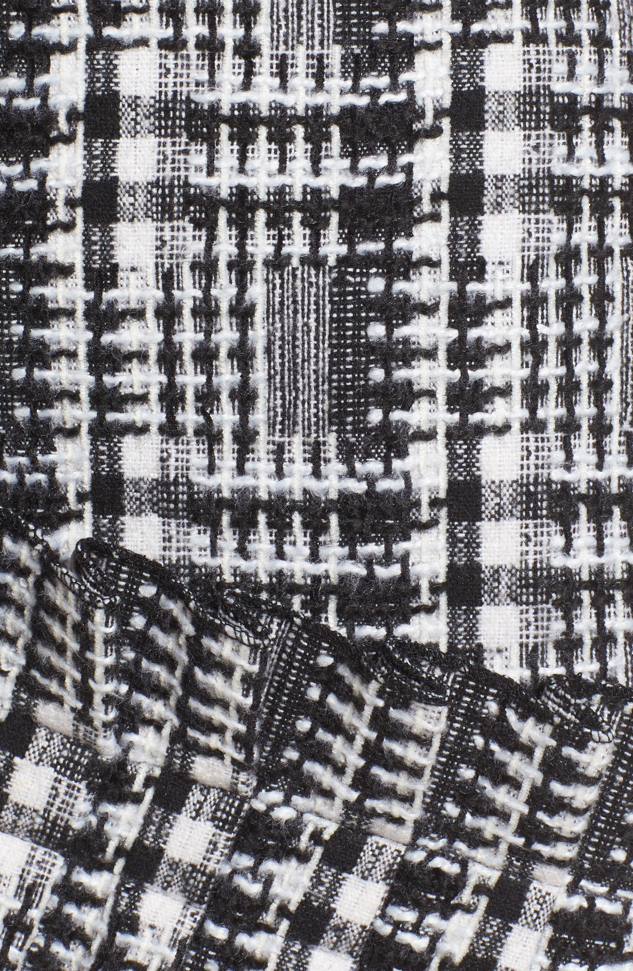 Ruffle Tweed Skirt,                             Alternate thumbnail 5, color,