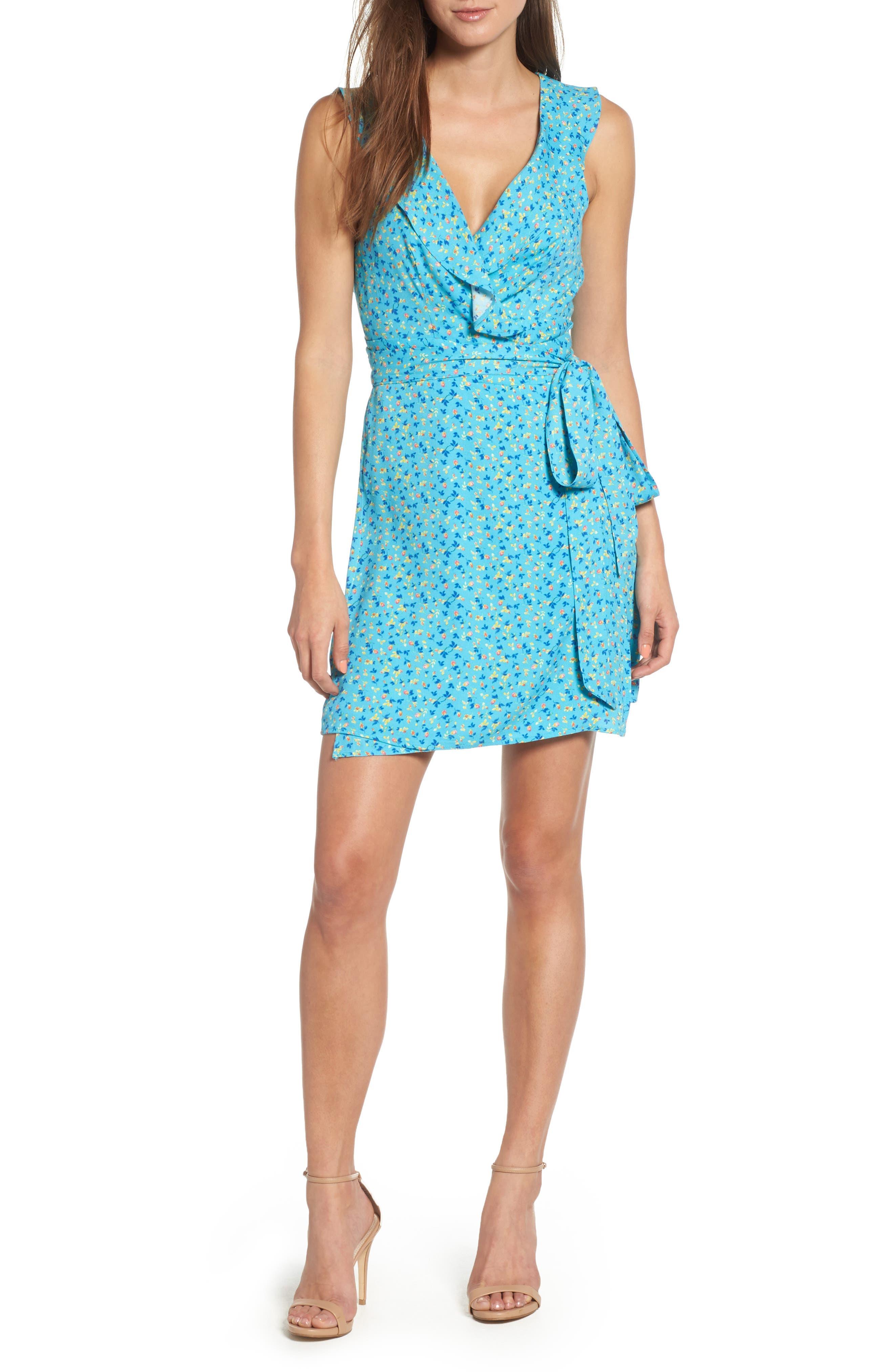 Jess Wrap Dress,                         Main,                         color, 400