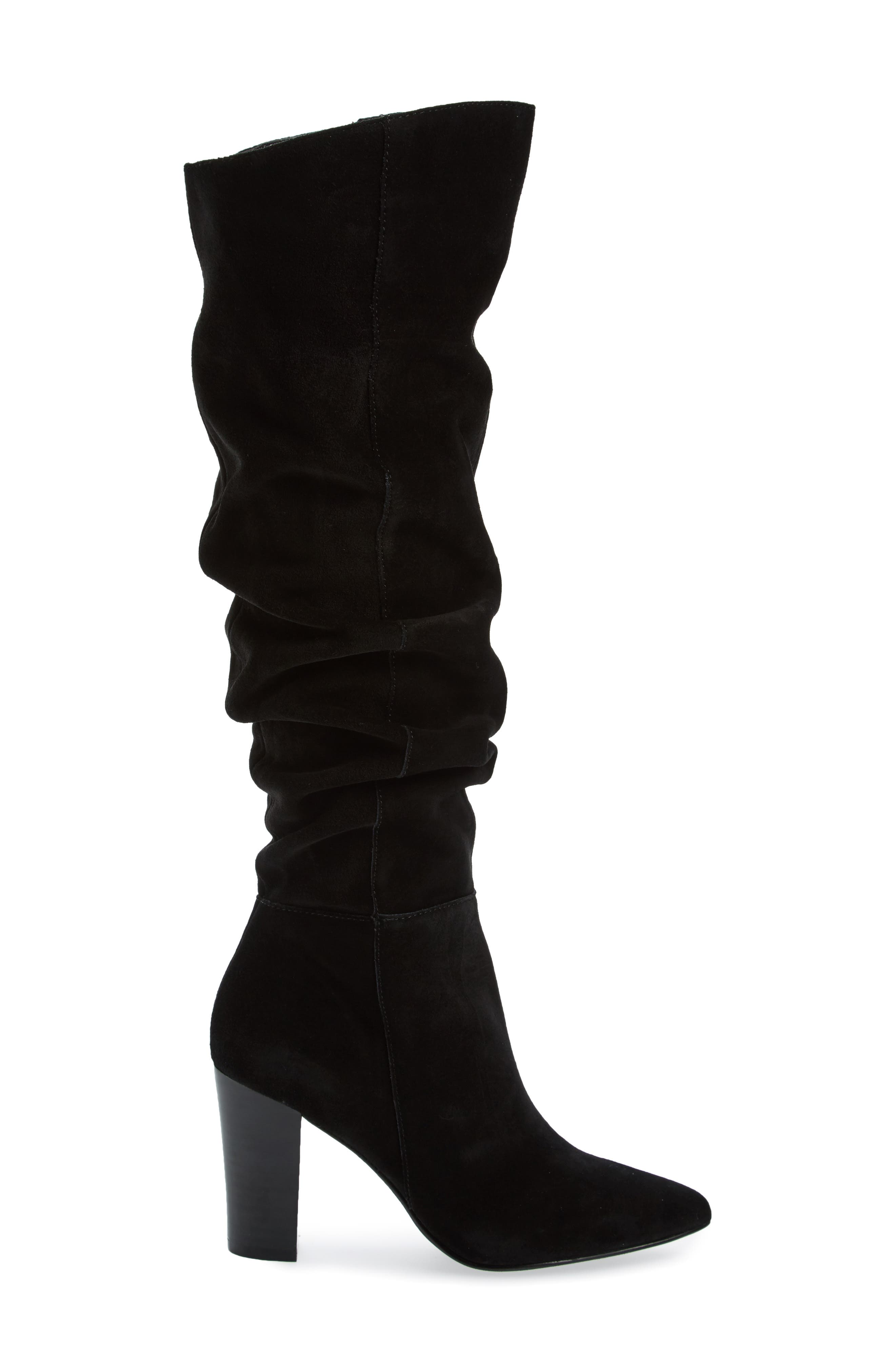 x Something Navy Aiden Knee High Boot,                             Alternate thumbnail 3, color,                             001