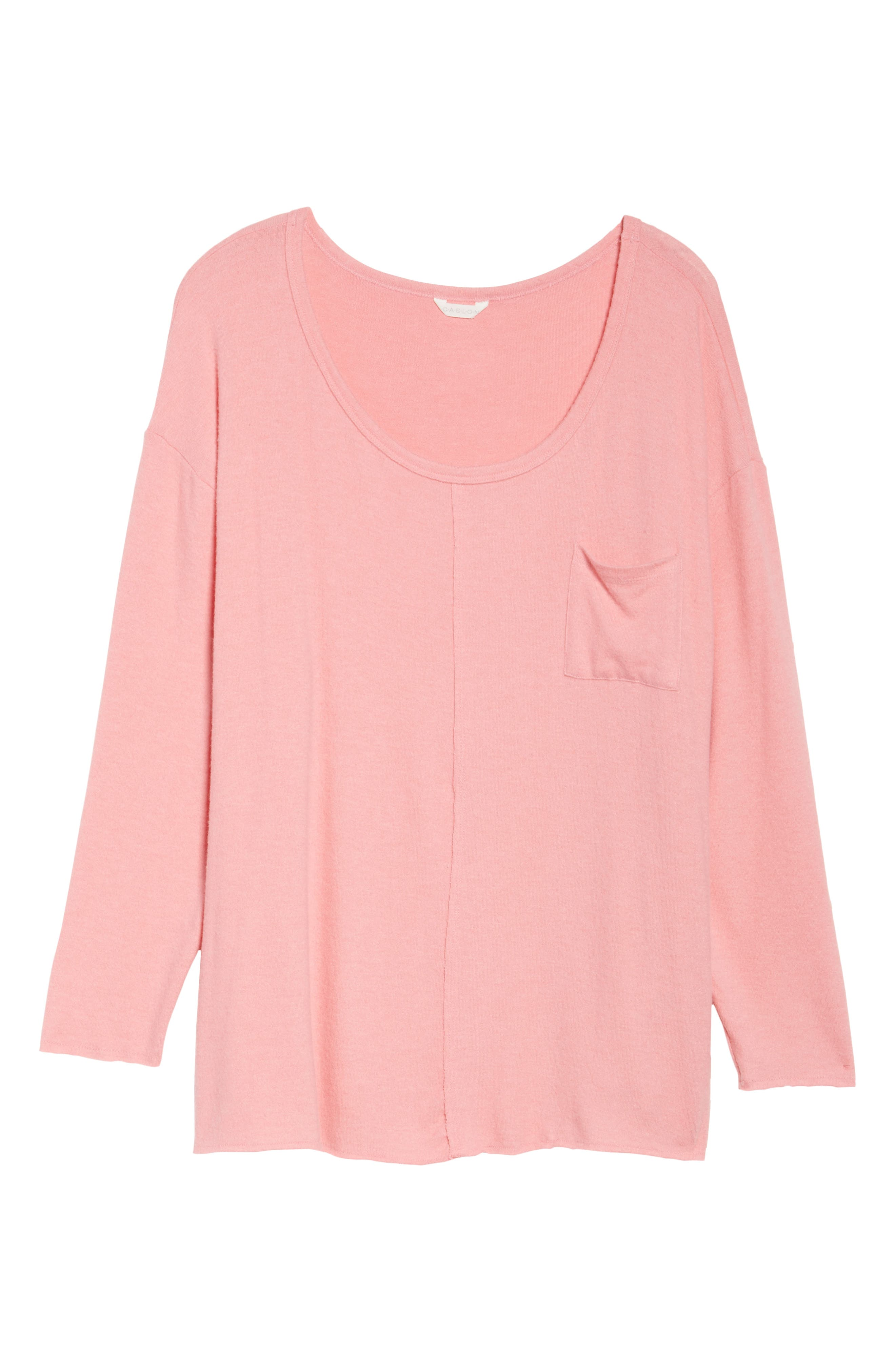 Drop Shoulder Pocket Top,                             Alternate thumbnail 18, color,