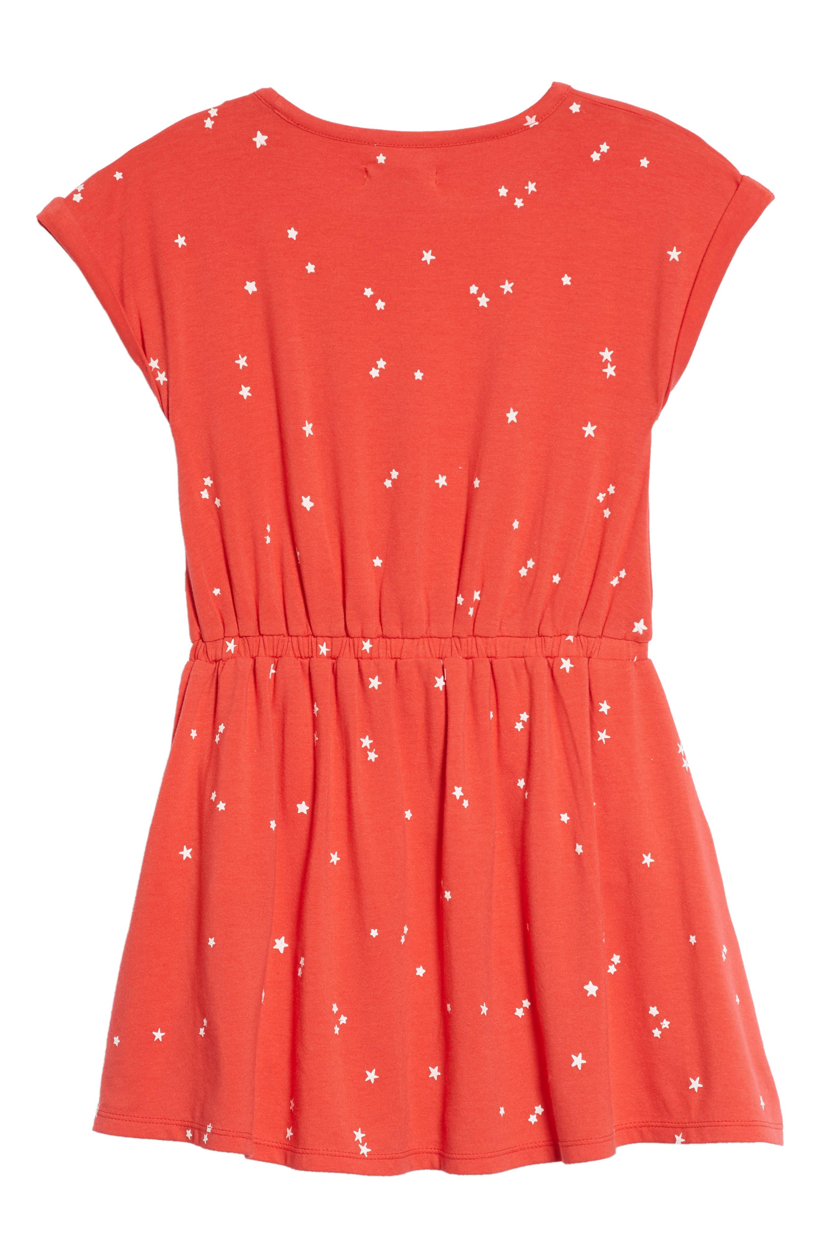 Print Skater Dress,                             Alternate thumbnail 2, color,                             610