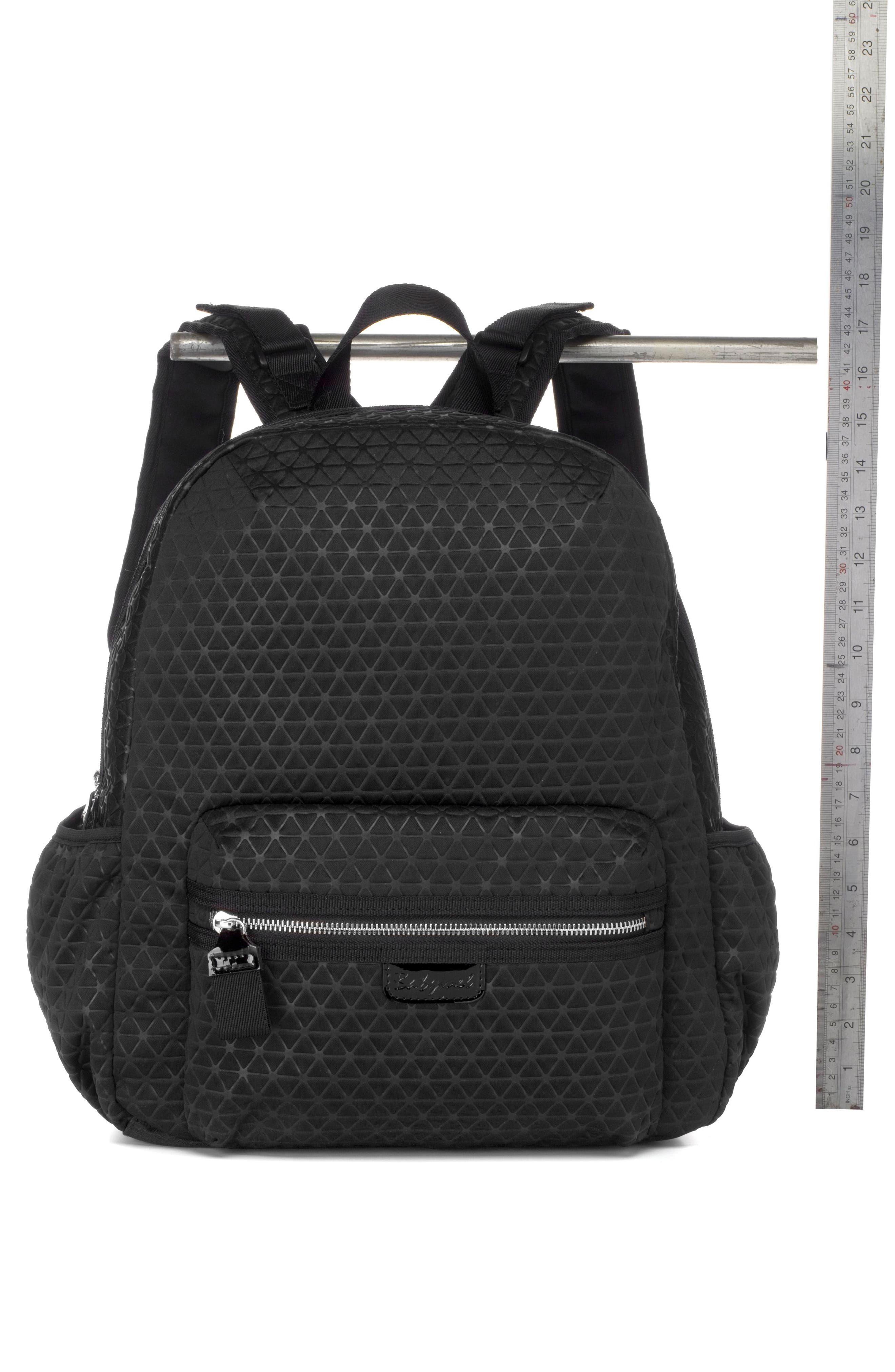 Luna Ultra Lite Diaper Backpack,                             Alternate thumbnail 6, color,                             BLACK