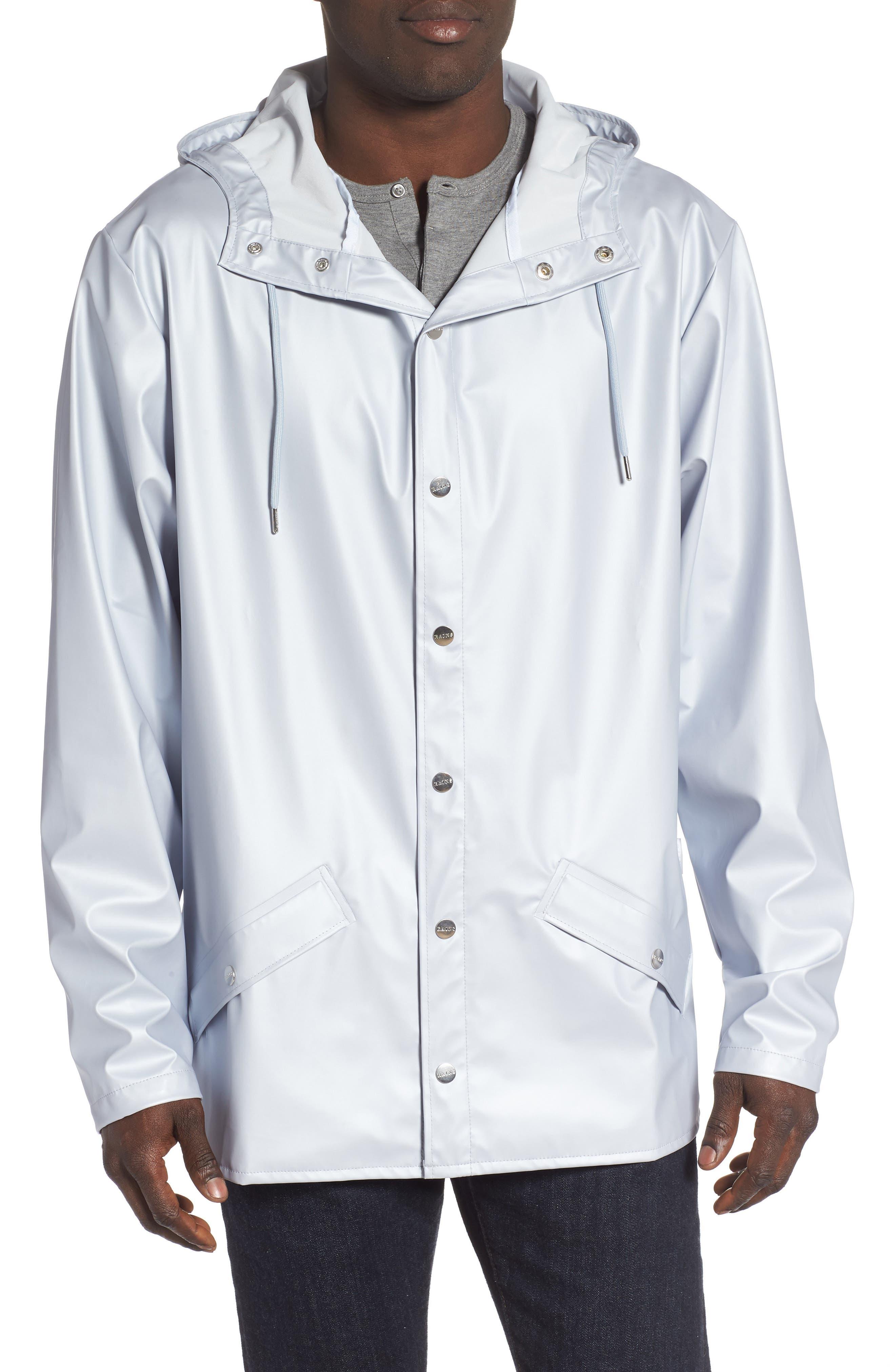 Rains Lightweight Hooded Rain Jacket, Grey