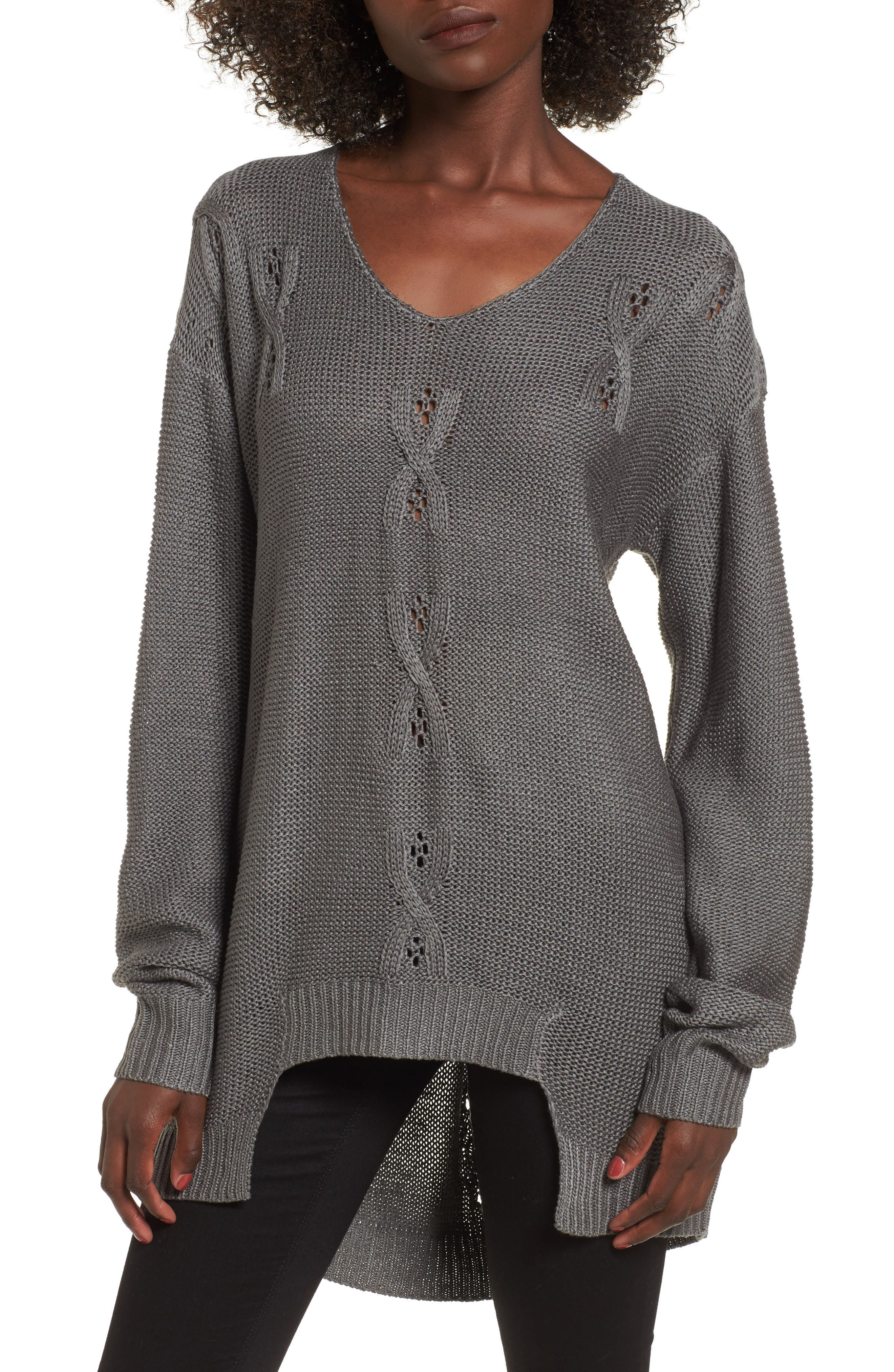 Patti Longline Sweater,                         Main,                         color, 021