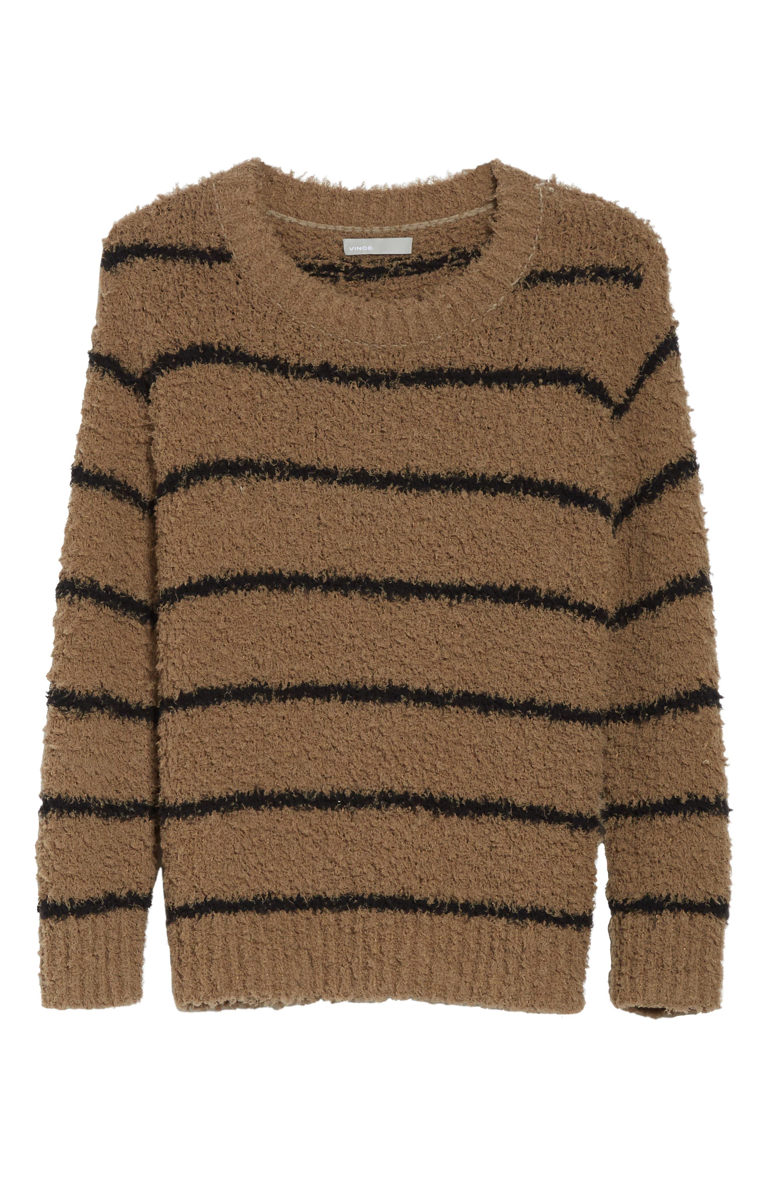 Fuzzy Stripe Sweater,                             Alternate thumbnail 6, color,                             313