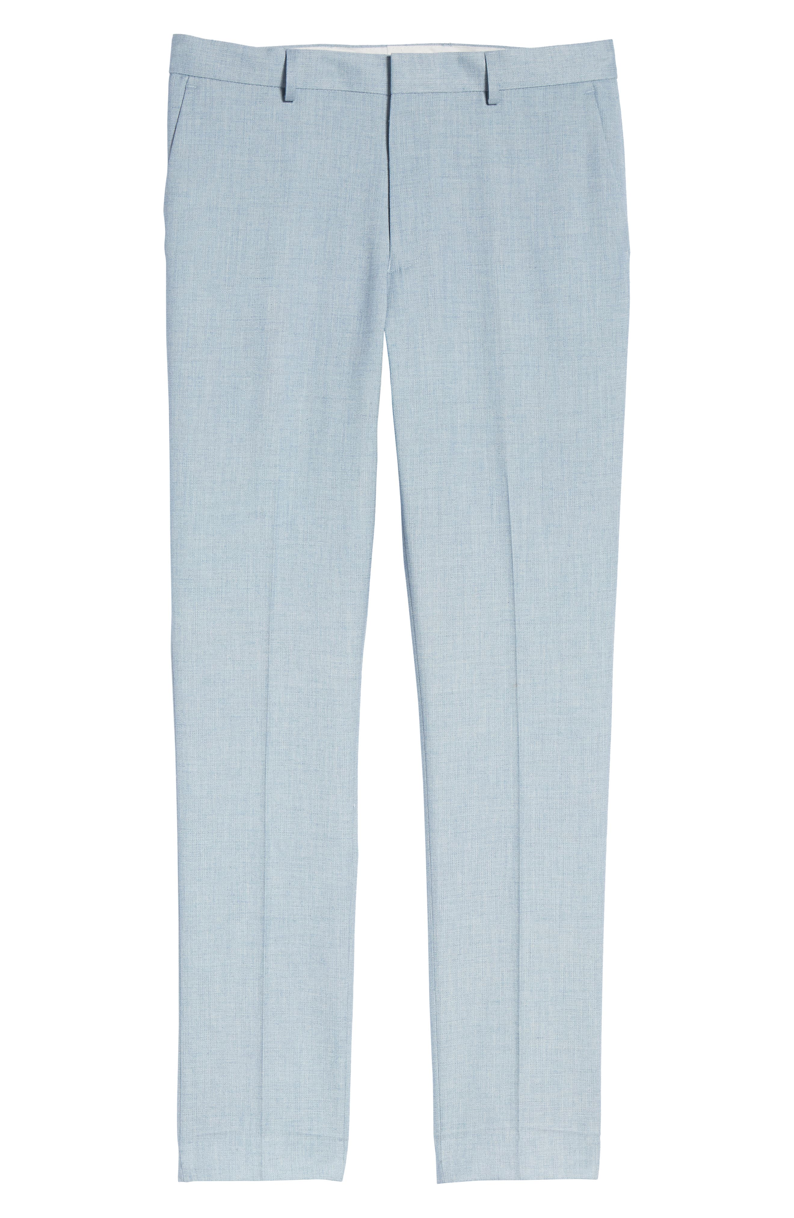 Stretch Skinny Fit Suit Trousers,                             Alternate thumbnail 6, color,                             BLUE