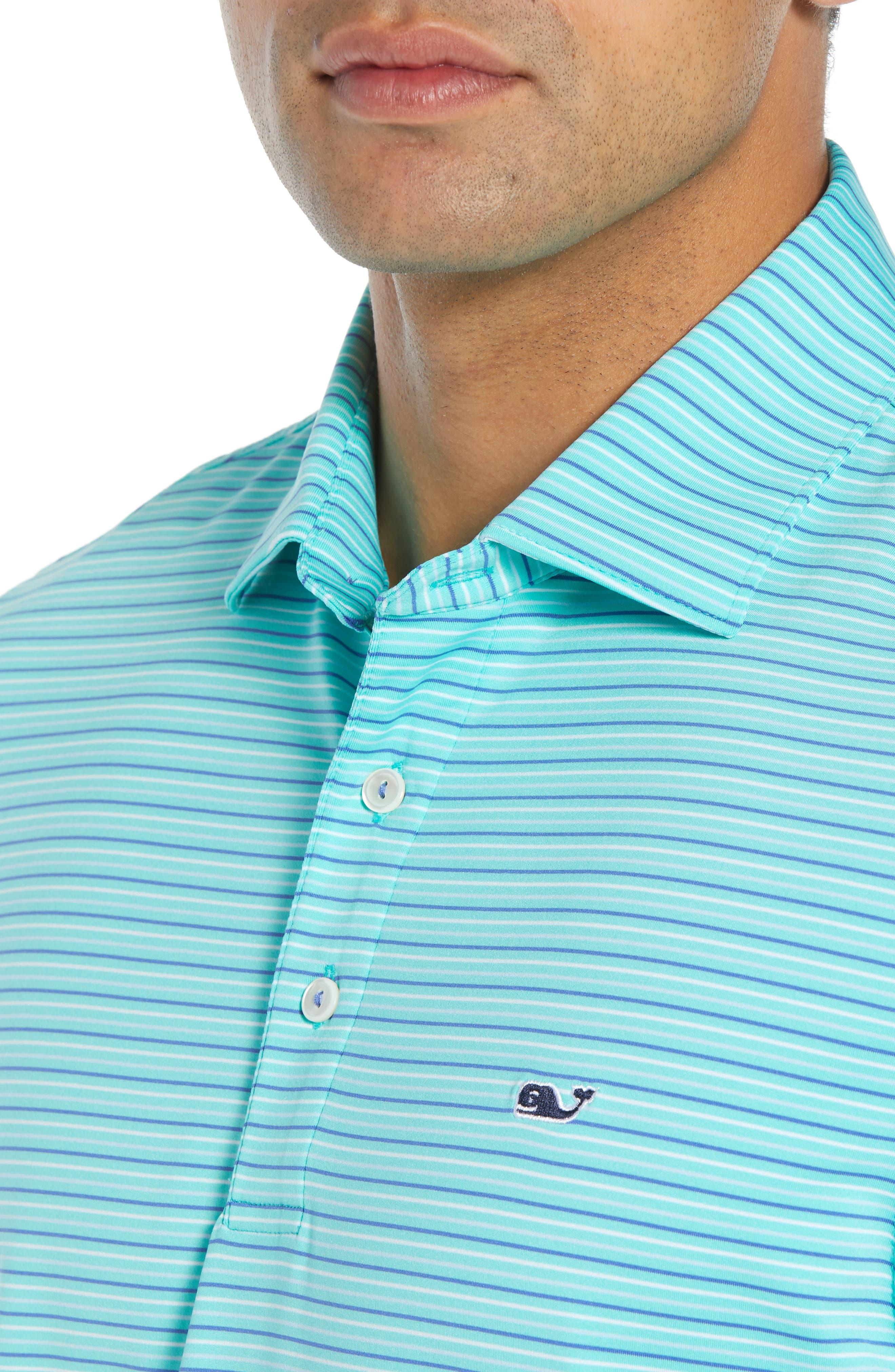 Four Color Feeder Stripe Polo,                             Alternate thumbnail 4, color,                             300