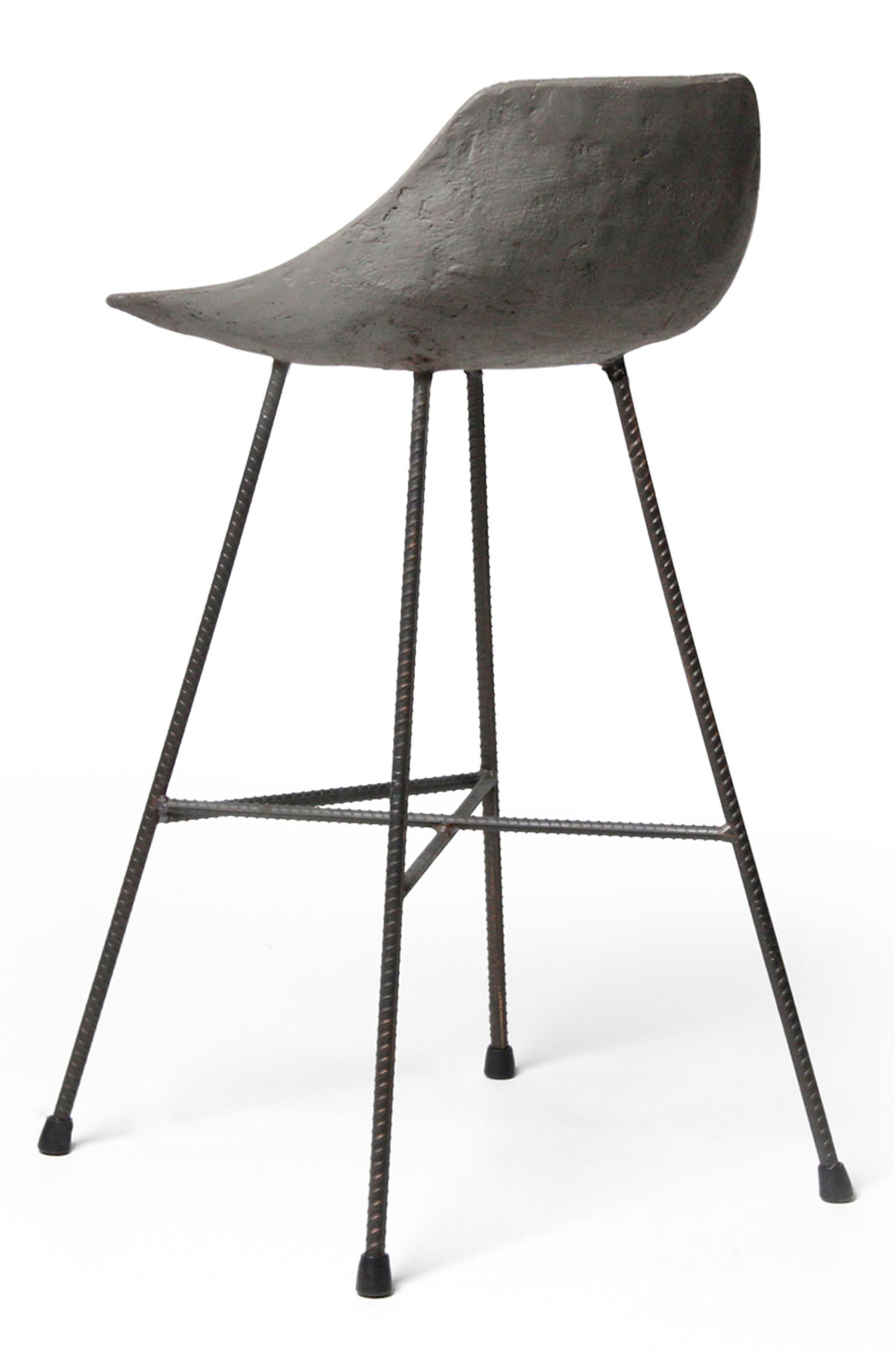 Lyon Béton Hauteville Counter Chair,                             Alternate thumbnail 3, color,                             CEMENT