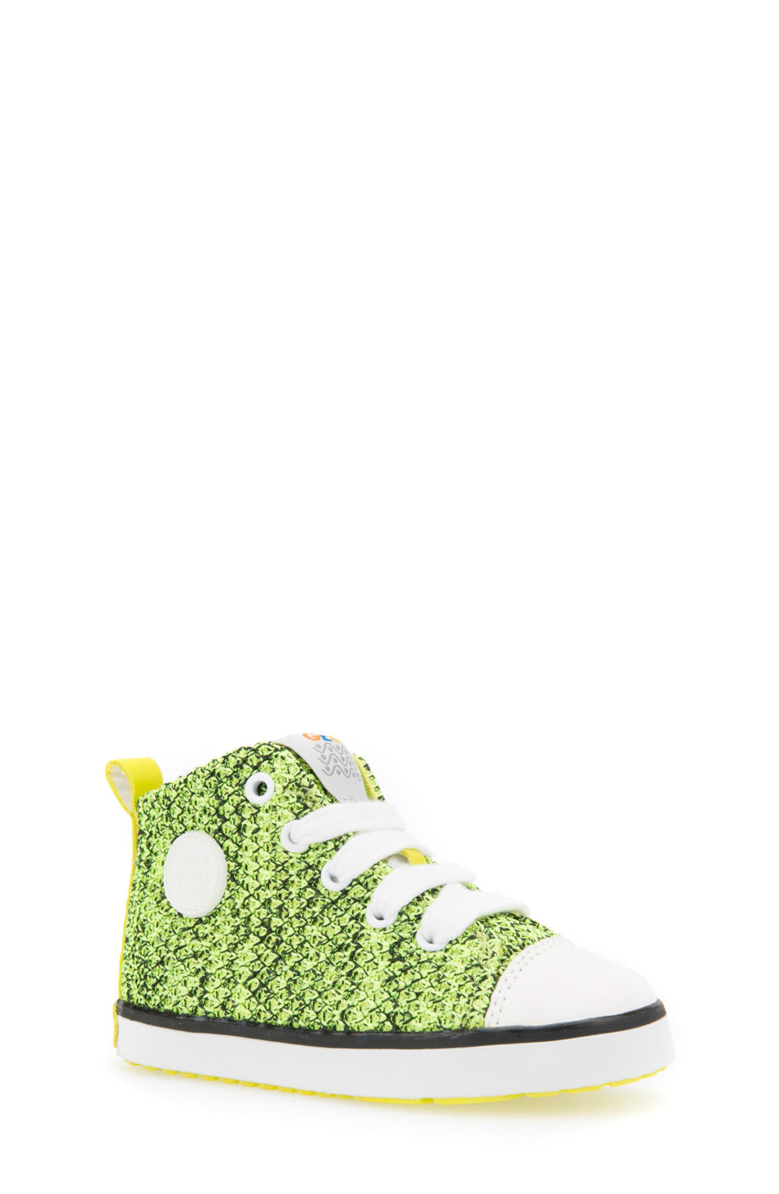 Kilwi Knit High Top Sneaker,                             Main thumbnail 1, color,                             LIME GREEN