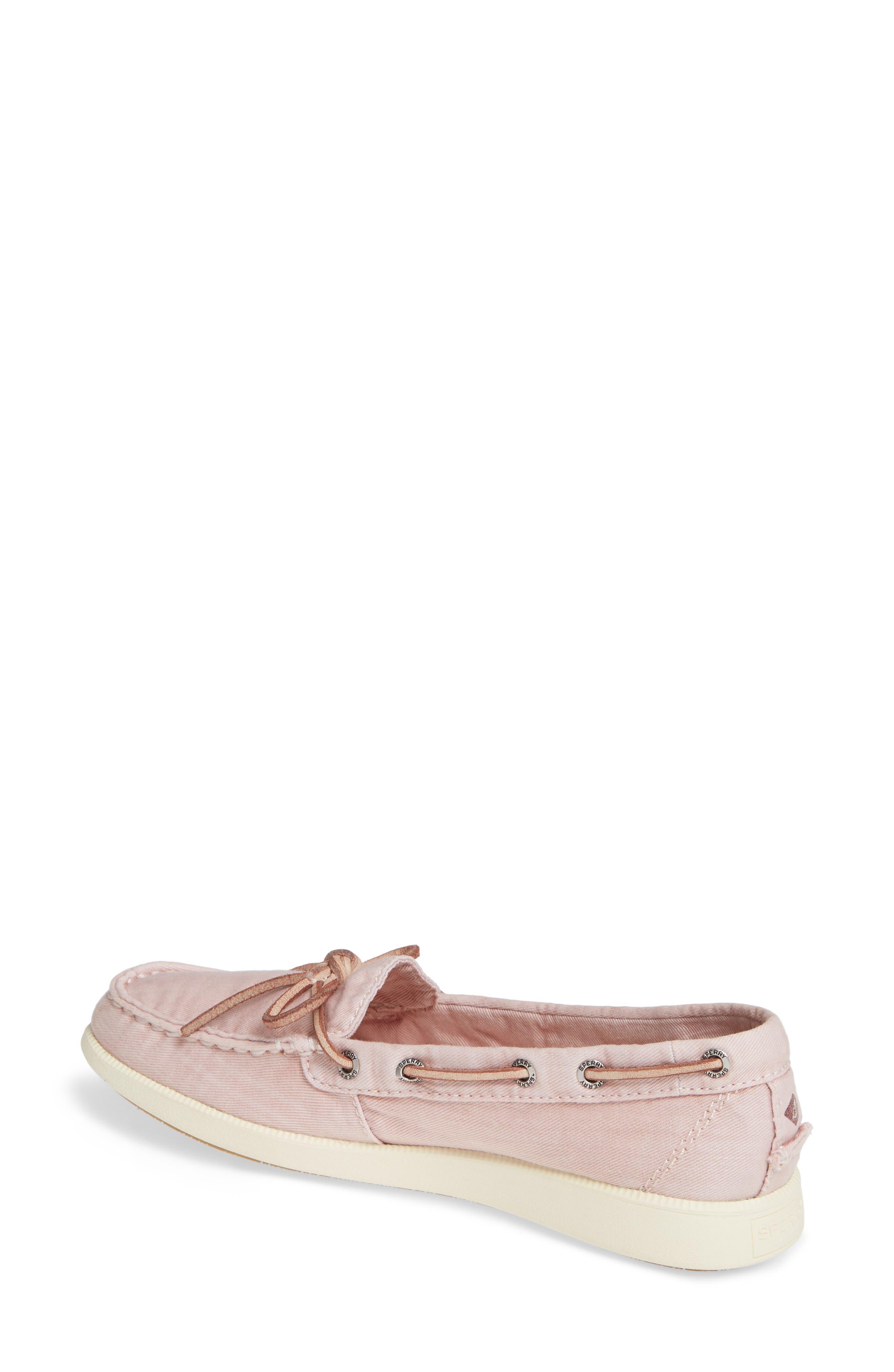 Oasis Boat Shoe,                             Alternate thumbnail 2, color,                             ROSE CANVAS