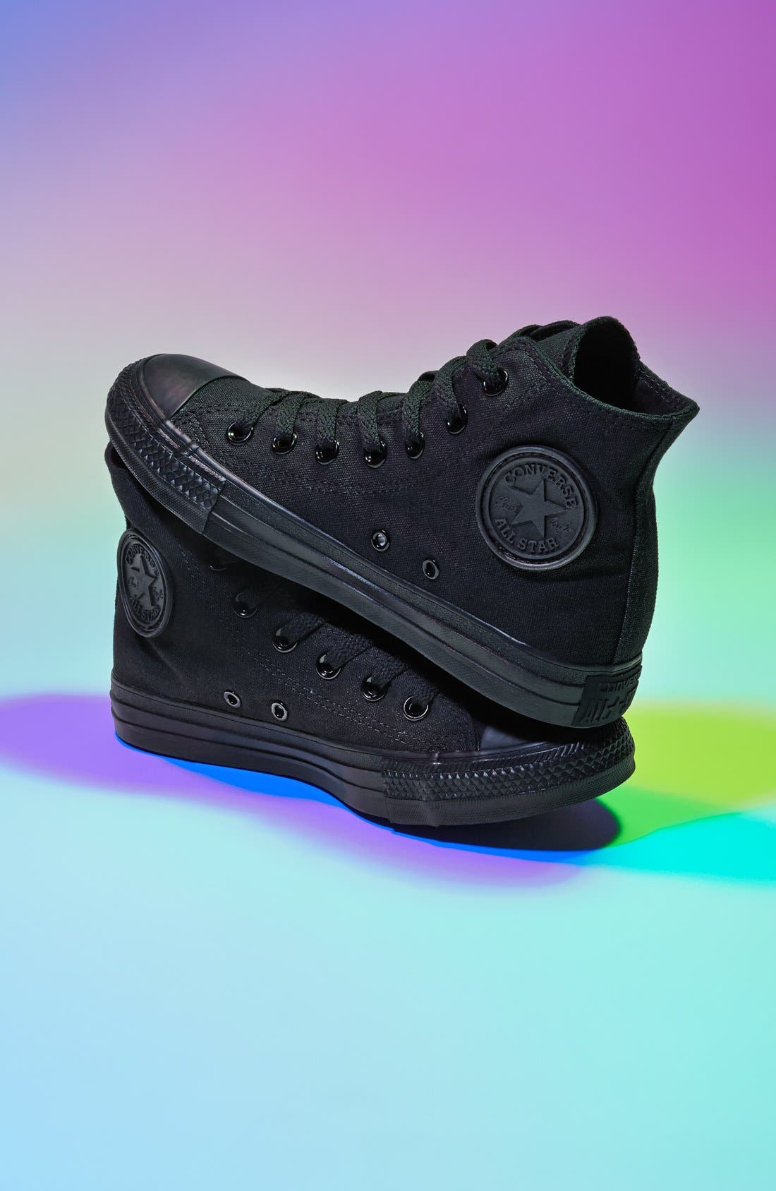Chuck Taylor<sup>®</sup> All Star<sup>®</sup> Monochrome High Top Sneaker,                             Main thumbnail 1, color,                             001