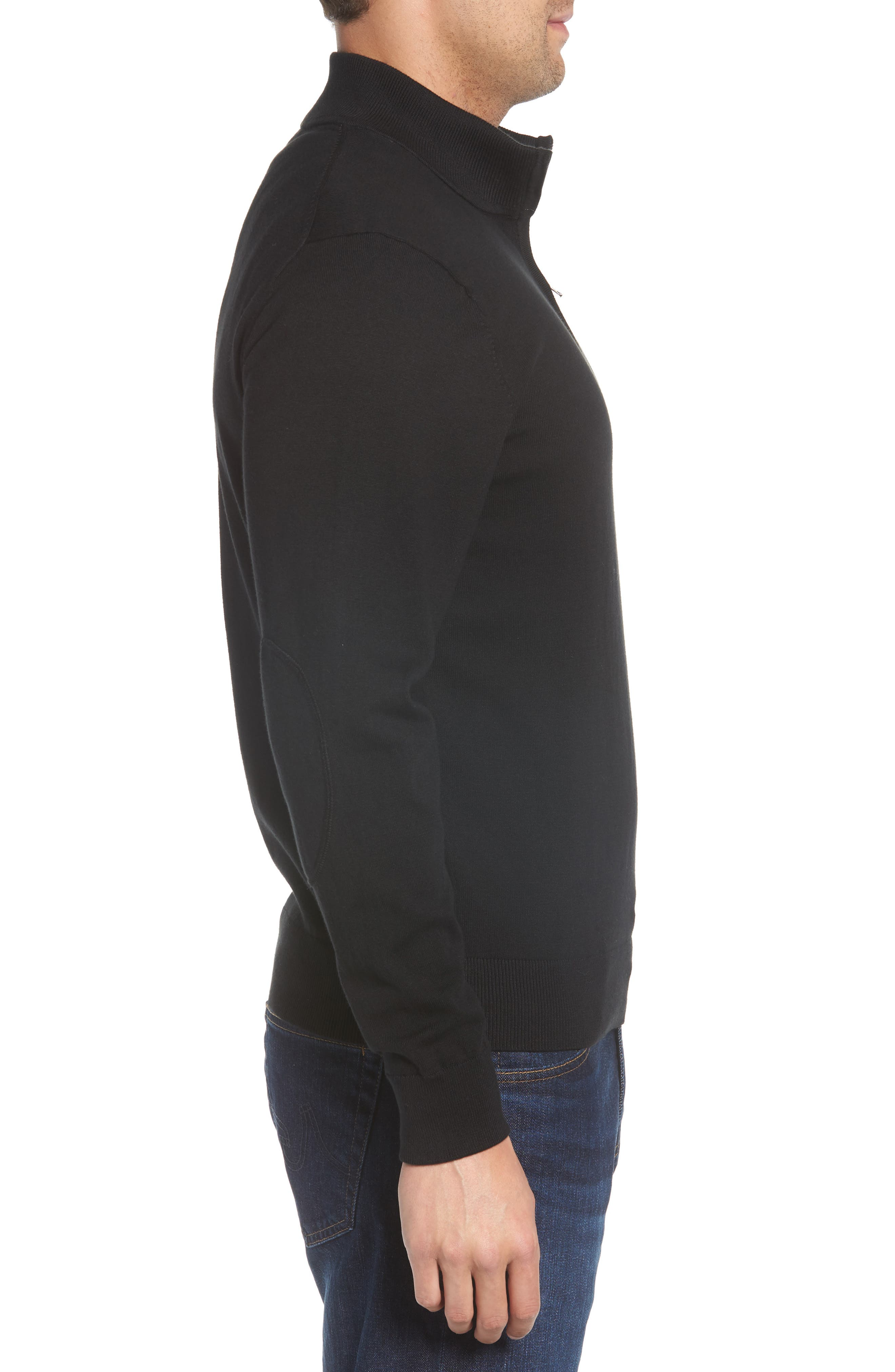 Atlanta Falcons - Lakemont Regular Fit Quarter Zip Sweater,                             Alternate thumbnail 3, color,                             BLACK