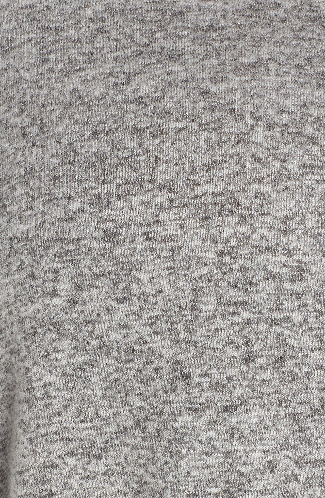CASLON<SUP>®</SUP>,                             Cozy Tie Front Cardigan,                             Alternate thumbnail 5, color,                             GREY HEATHER