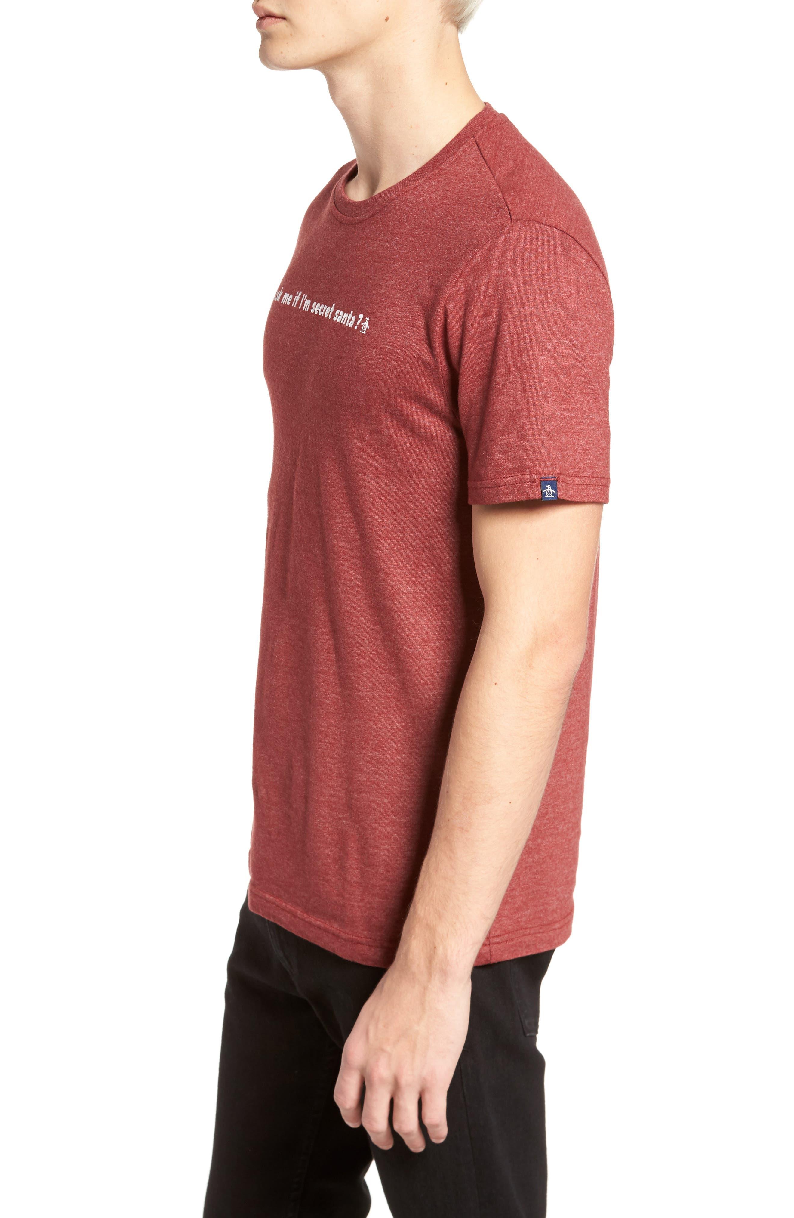 Secret Santa T-Shirt,                             Alternate thumbnail 3, color,