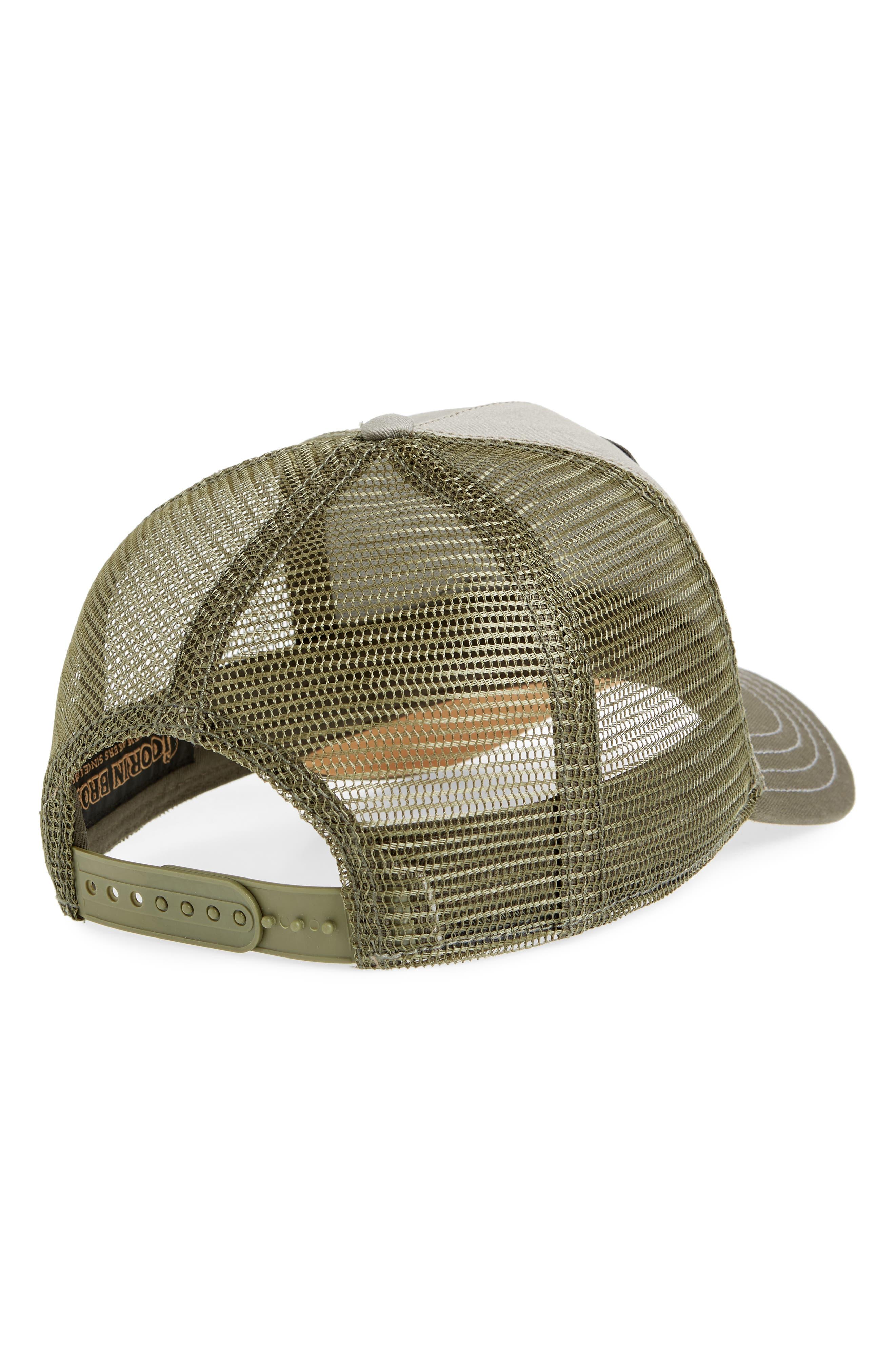 Goat Beard Trucker Hat,                             Alternate thumbnail 2, color,                             OLIVE