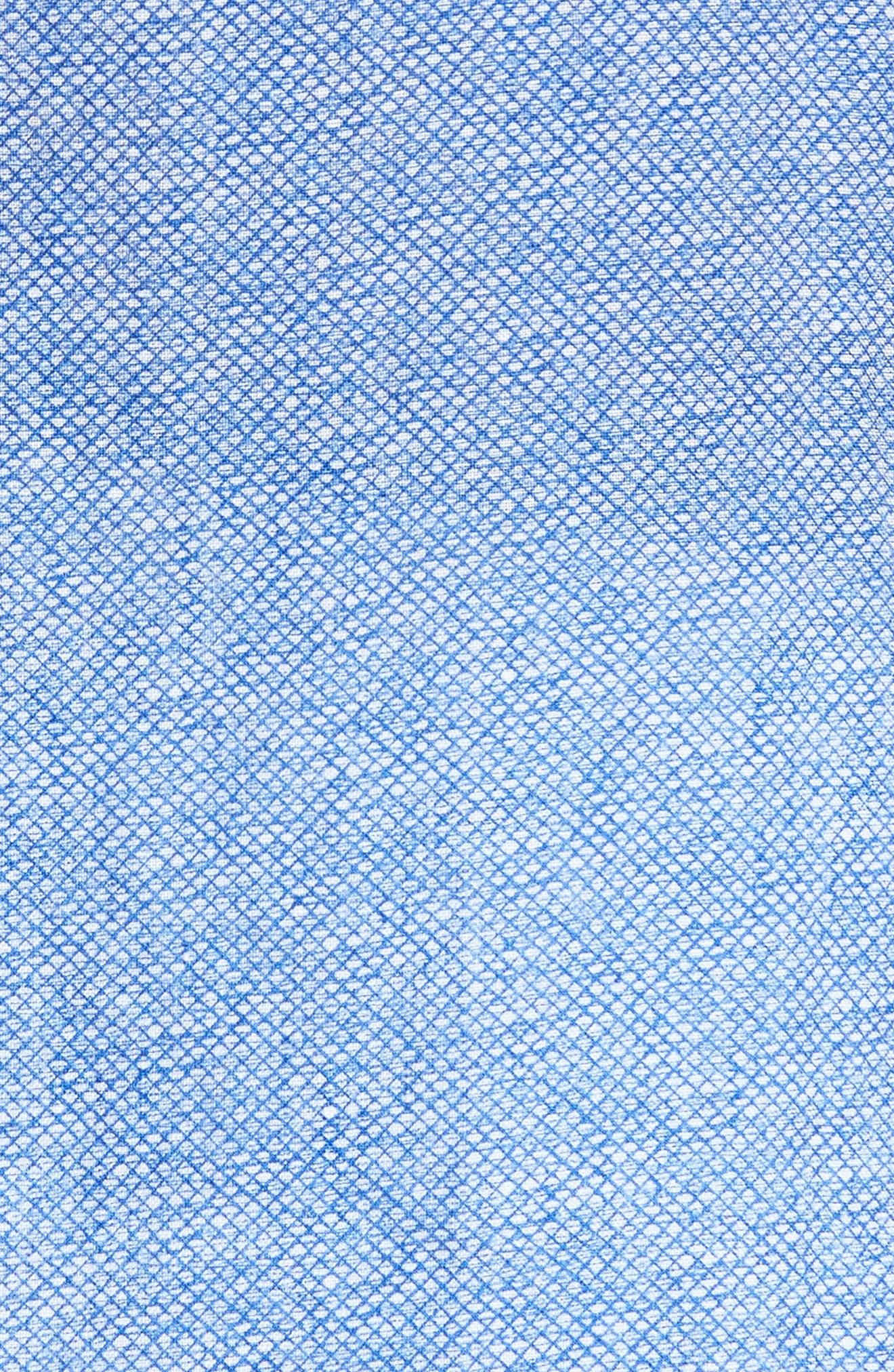 Ronn Extra Slim Fit Print Linen Sport Shirt,                             Alternate thumbnail 5, color,                             421