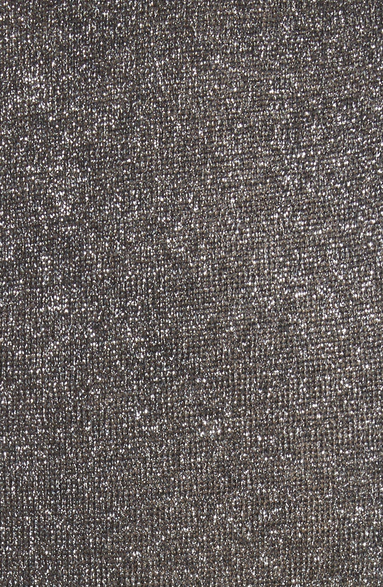 metallic knot sweater dress,                             Alternate thumbnail 5, color,