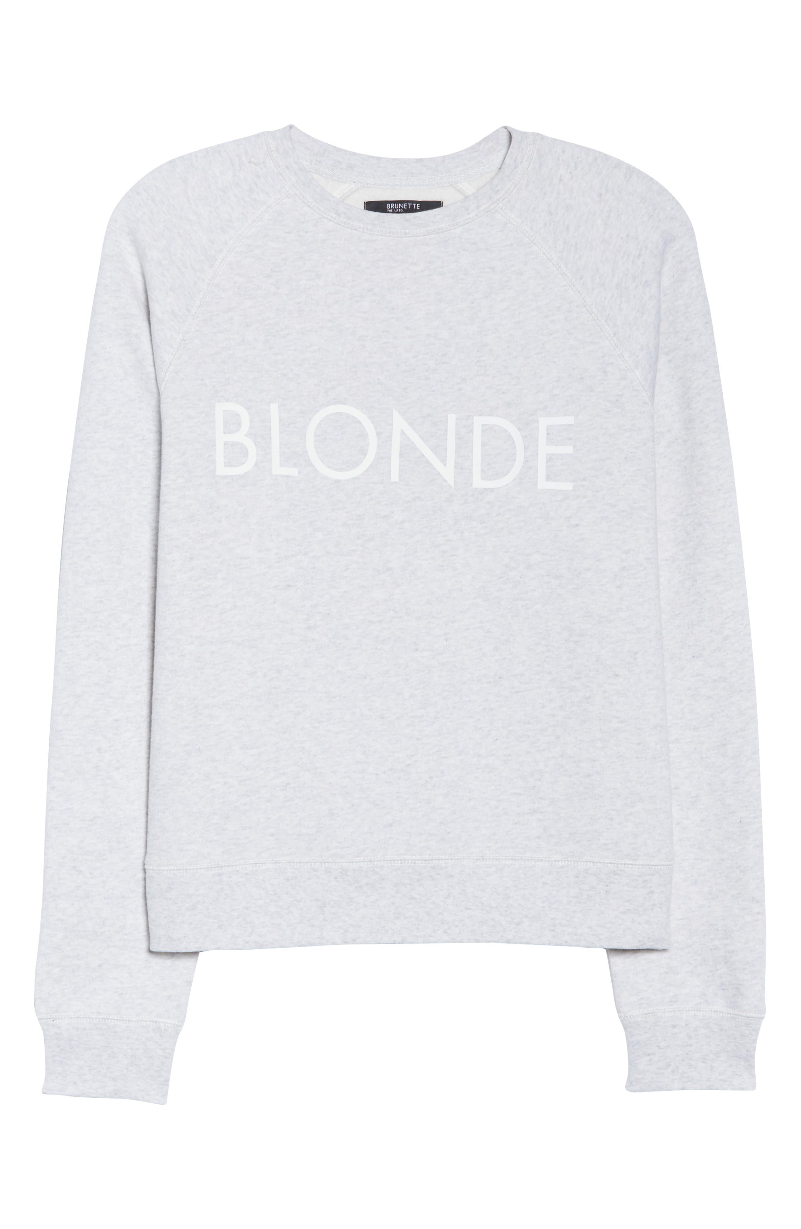 Blonde Sweatshirt,                             Alternate thumbnail 6, color,                             250