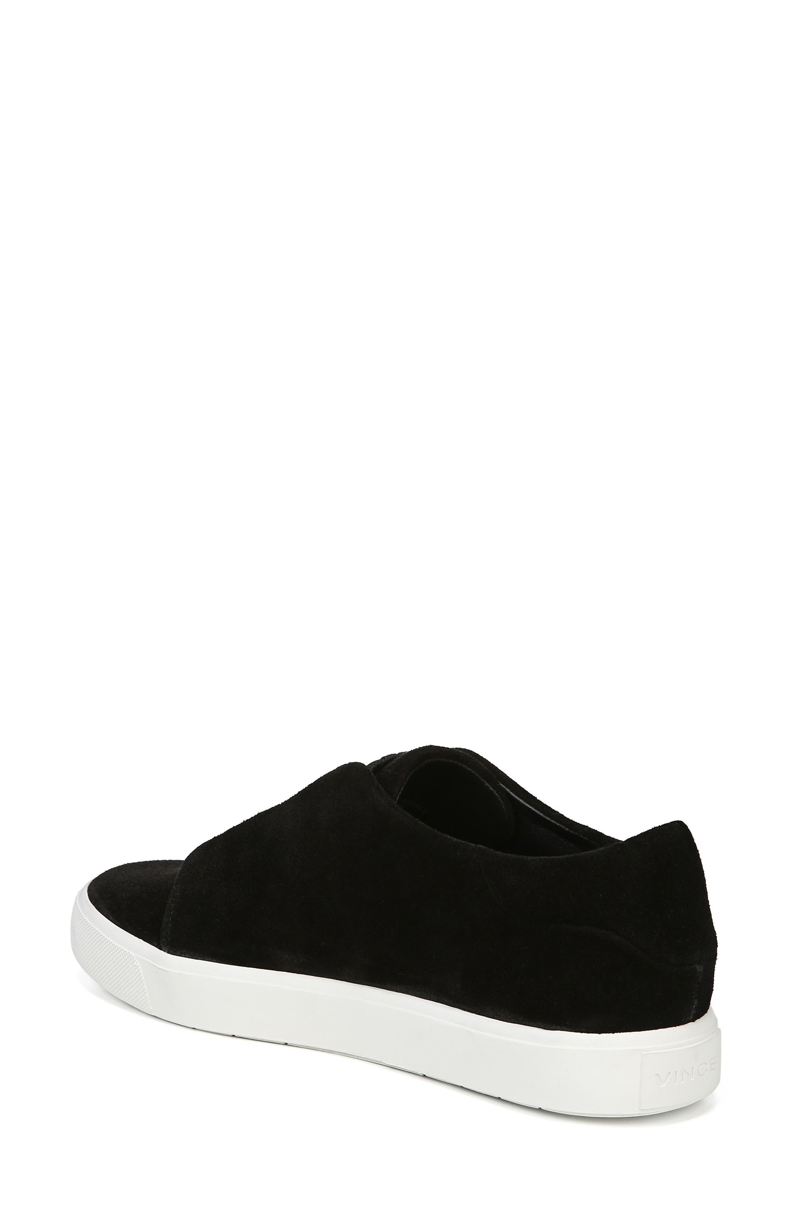 Cantara Slip-On Sneaker,                             Alternate thumbnail 2, color,                             BLACK SUEDE