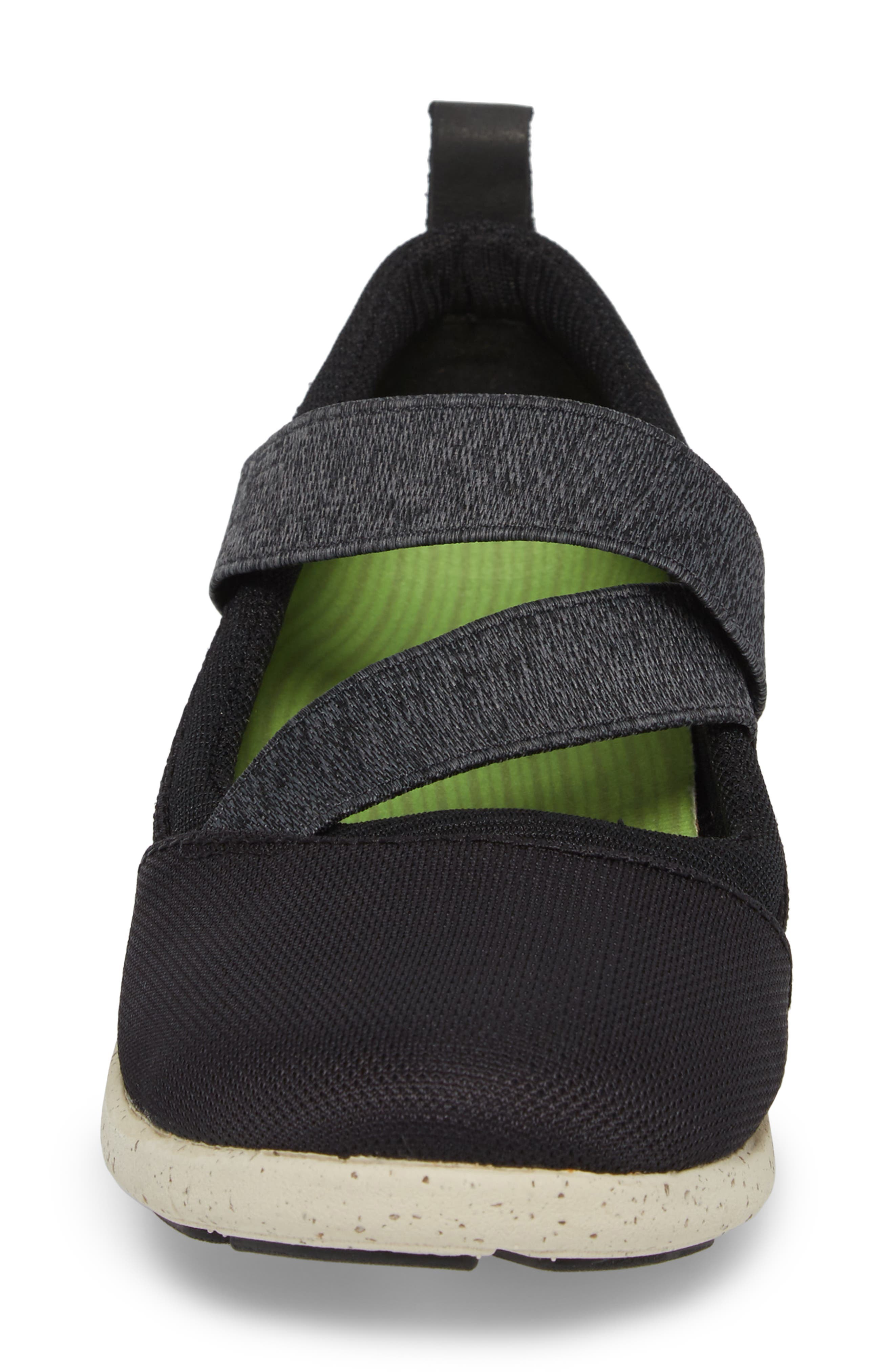 SUPERFEET,                             Palisade Sneaker,                             Alternate thumbnail 4, color,                             BLACK LEATHER