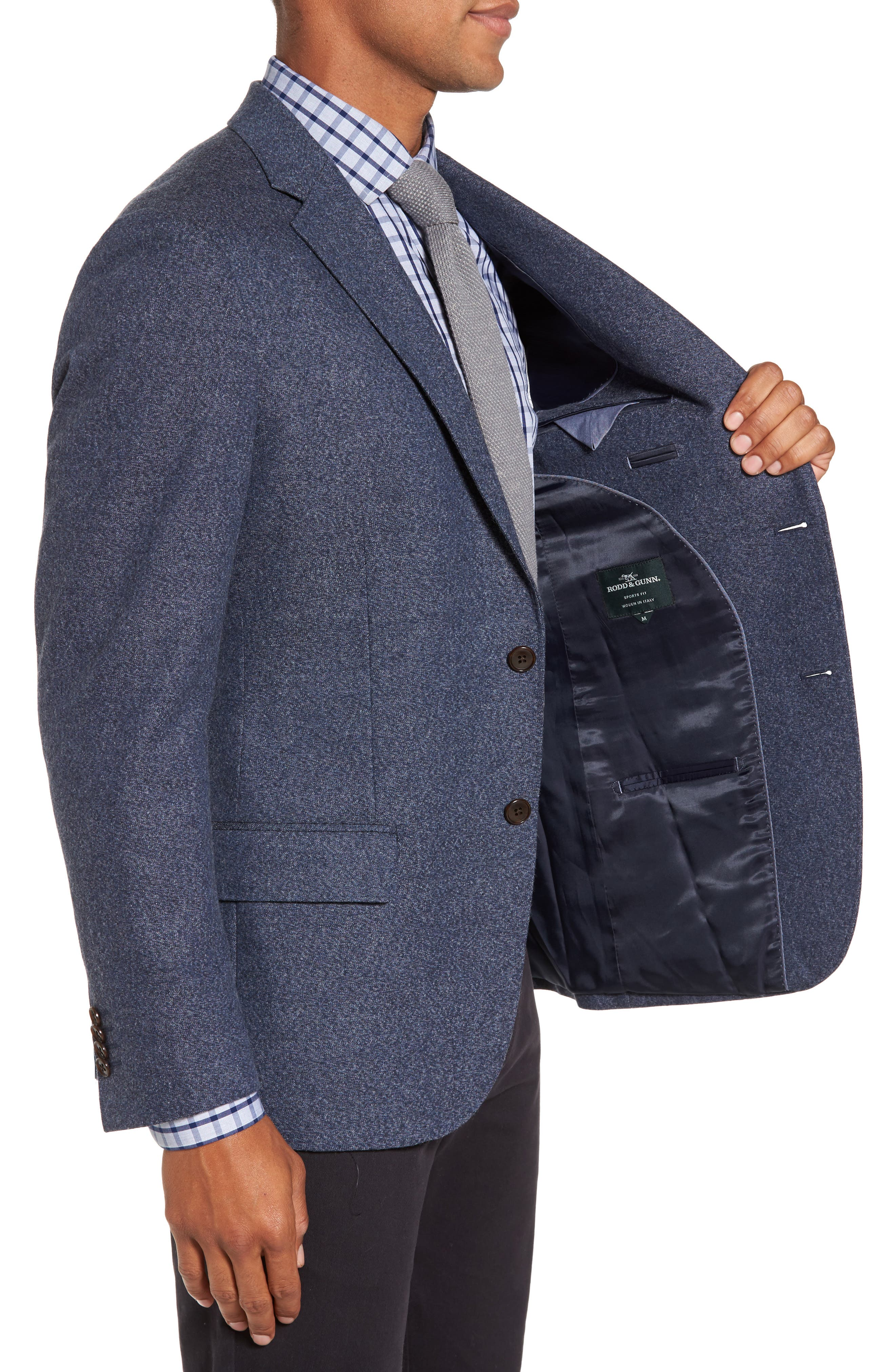 Charleston Wool Blend Sport Coat,                             Alternate thumbnail 3, color,                             414