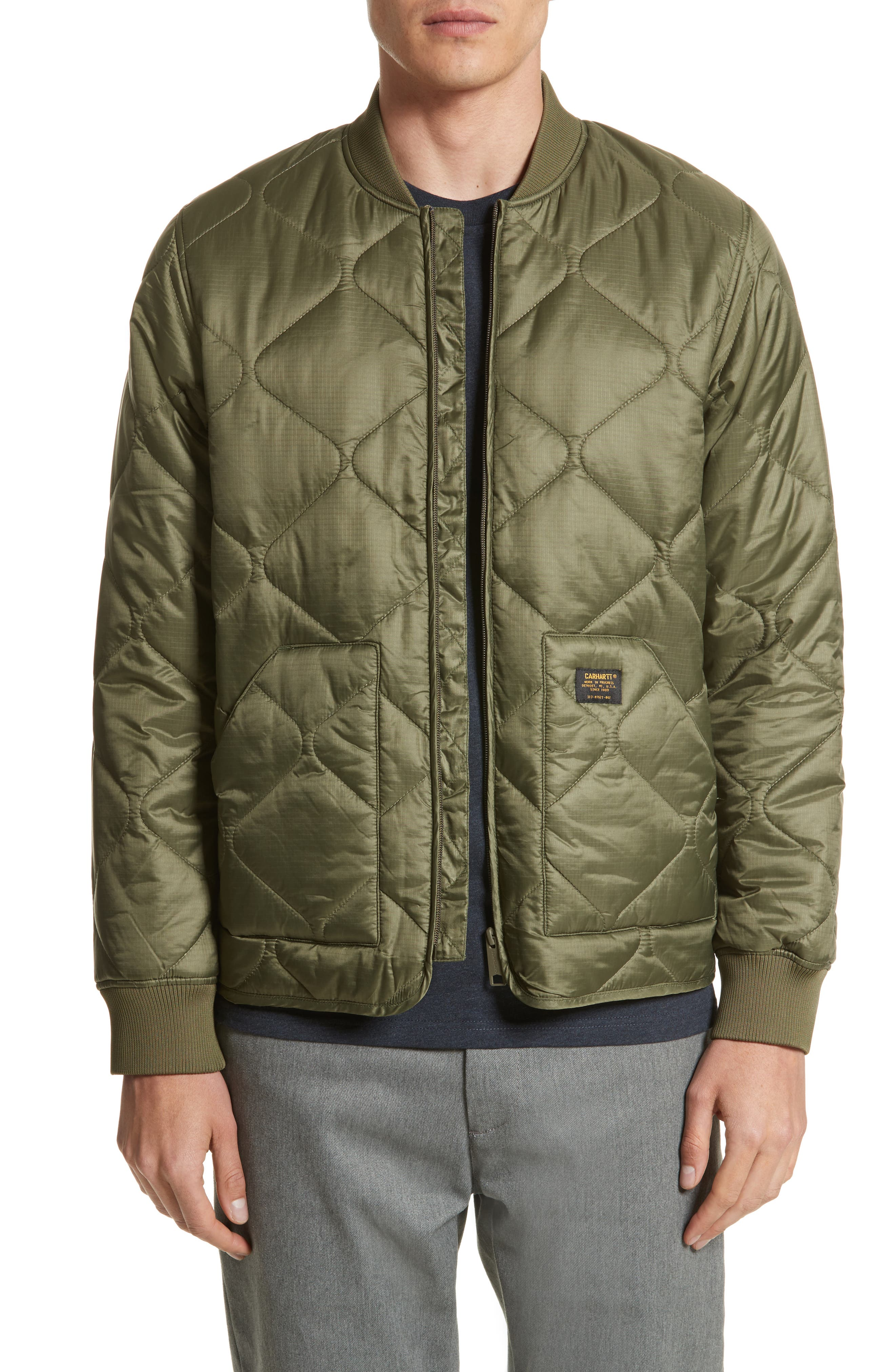 Quilted Ripstop Bomber Jacket,                         Main,                         color, 312