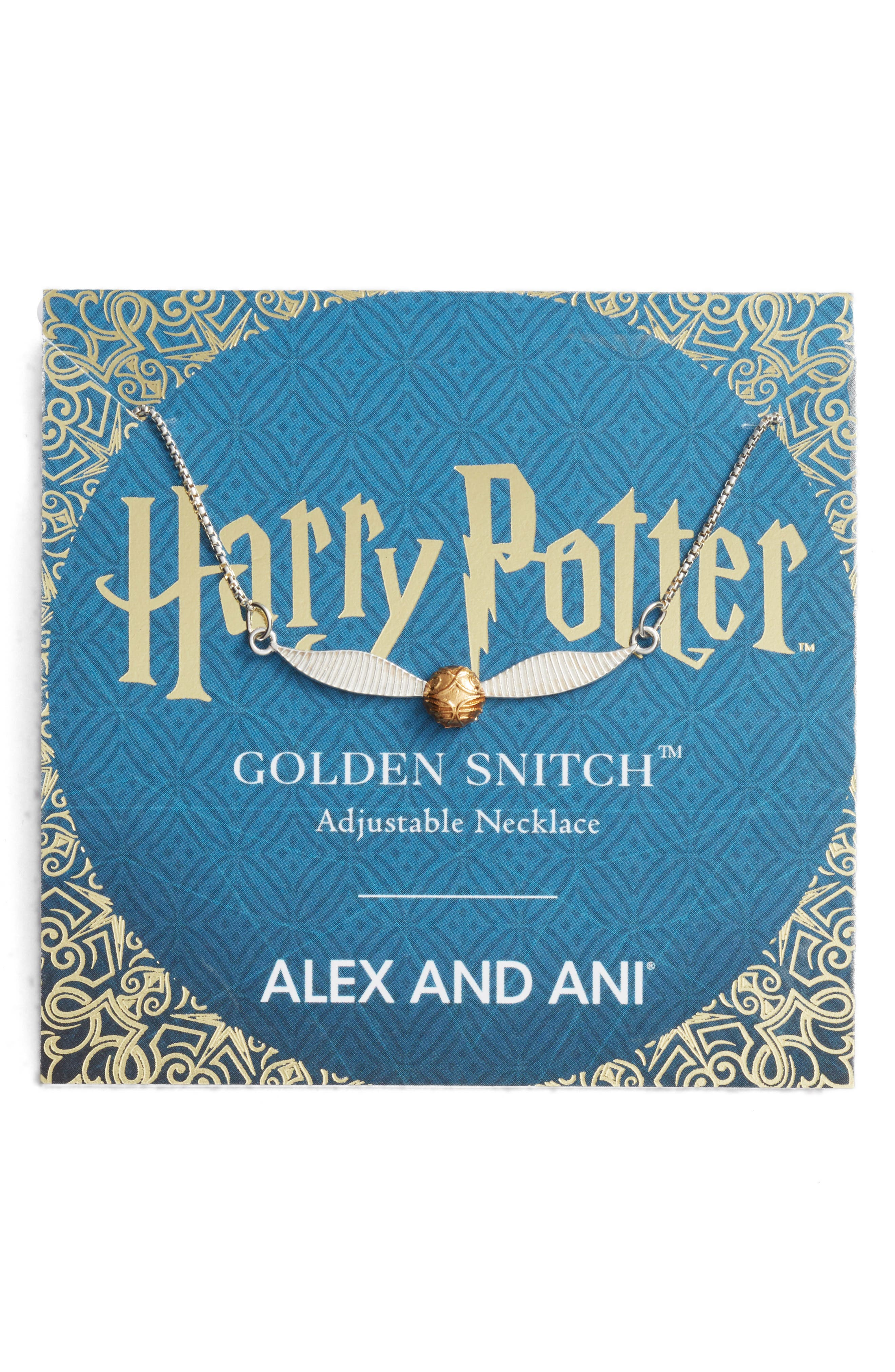 Harry Potter<sup>™</sup> Golden Snitch<sup>™</sup> Adjustable Necklace,                             Alternate thumbnail 3, color,